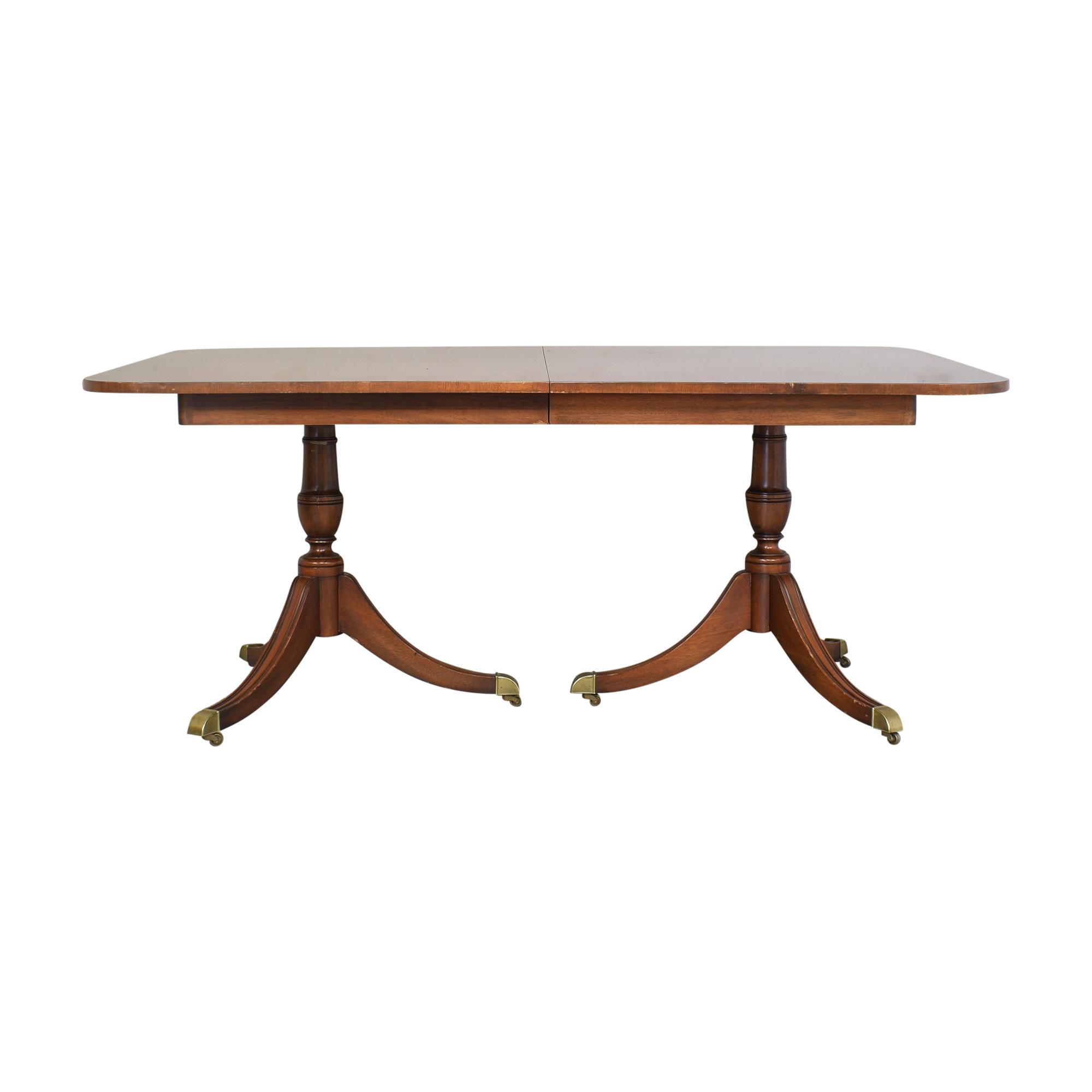 Kindel Kindel Double Pedestal Extendable Dining Table on sale