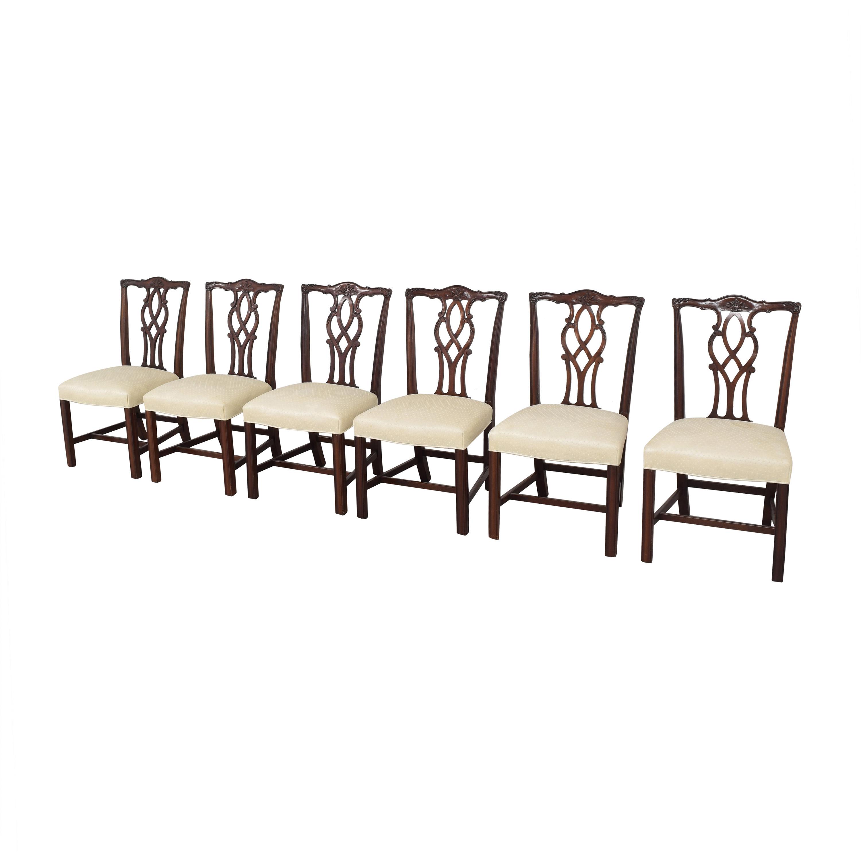 Kindel Kindel Chippendale Dining Side Chairs for sale