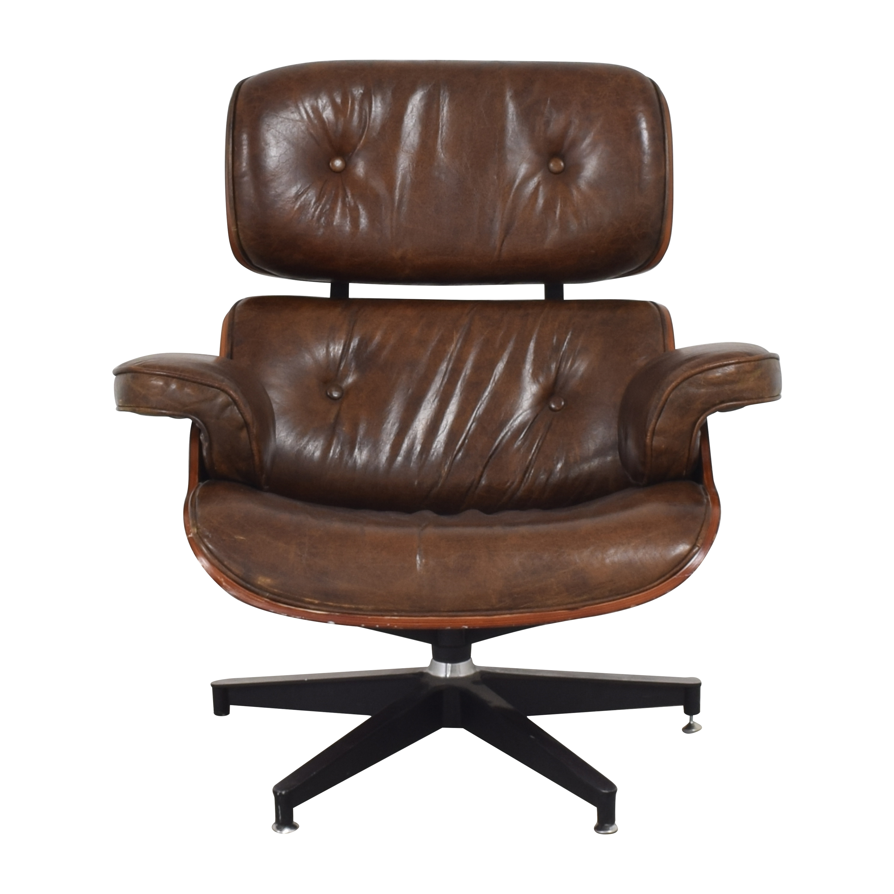 Eames-Style Chair with Ottoman on sale