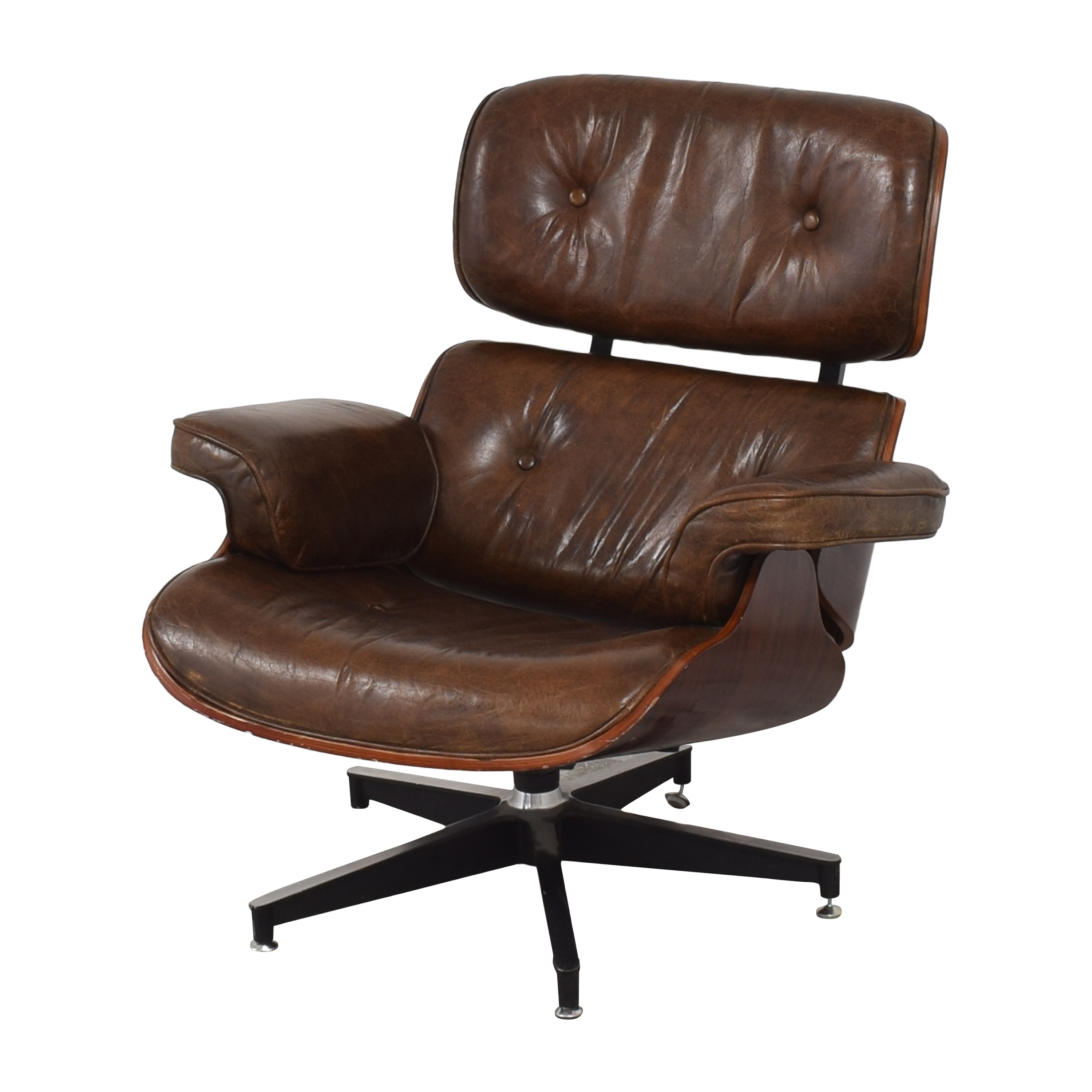 Eames-Style Chair with Ottoman nyc