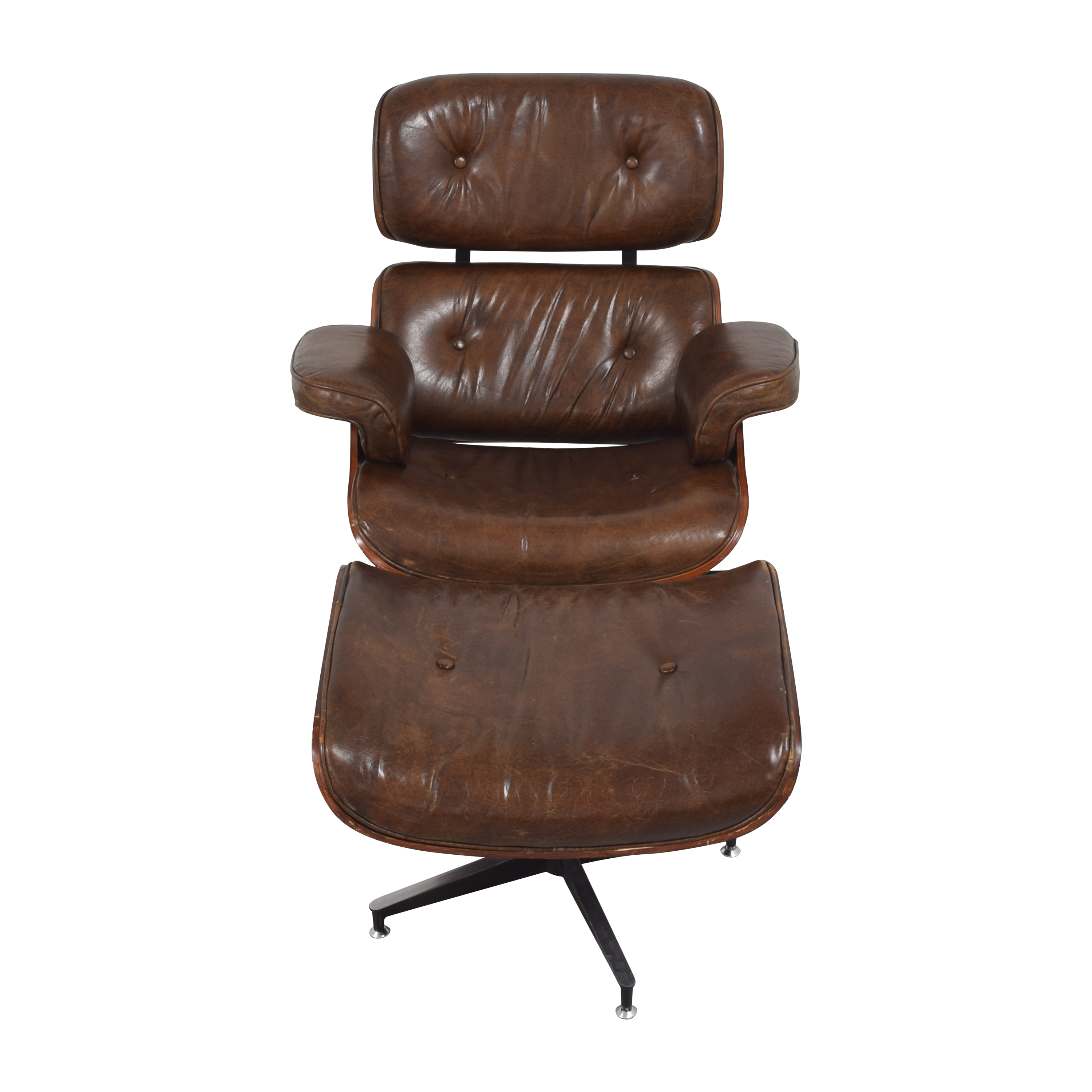 Eames-Style Chair with Ottoman nj