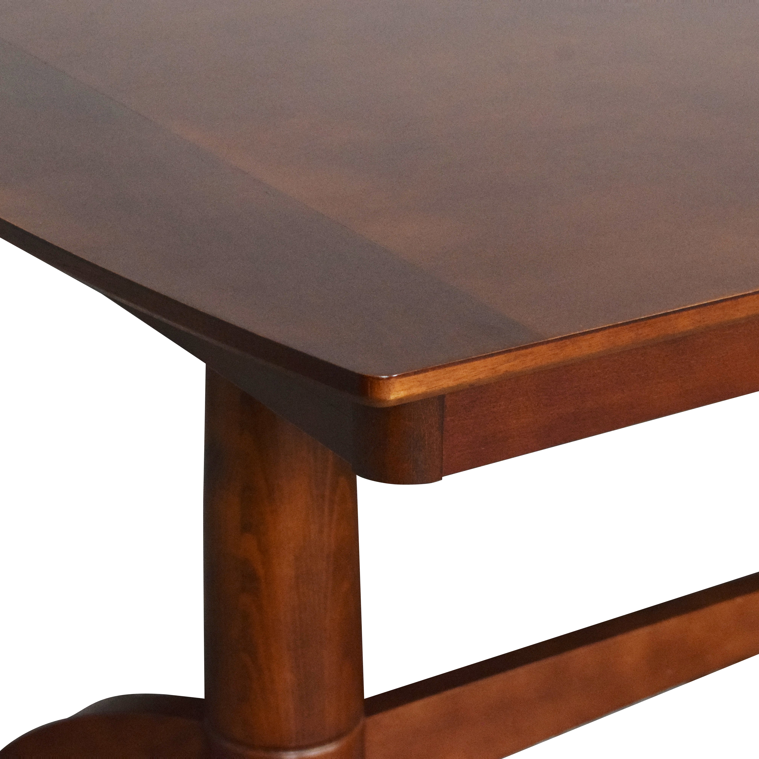 Extendable Trestle Dining Table ma