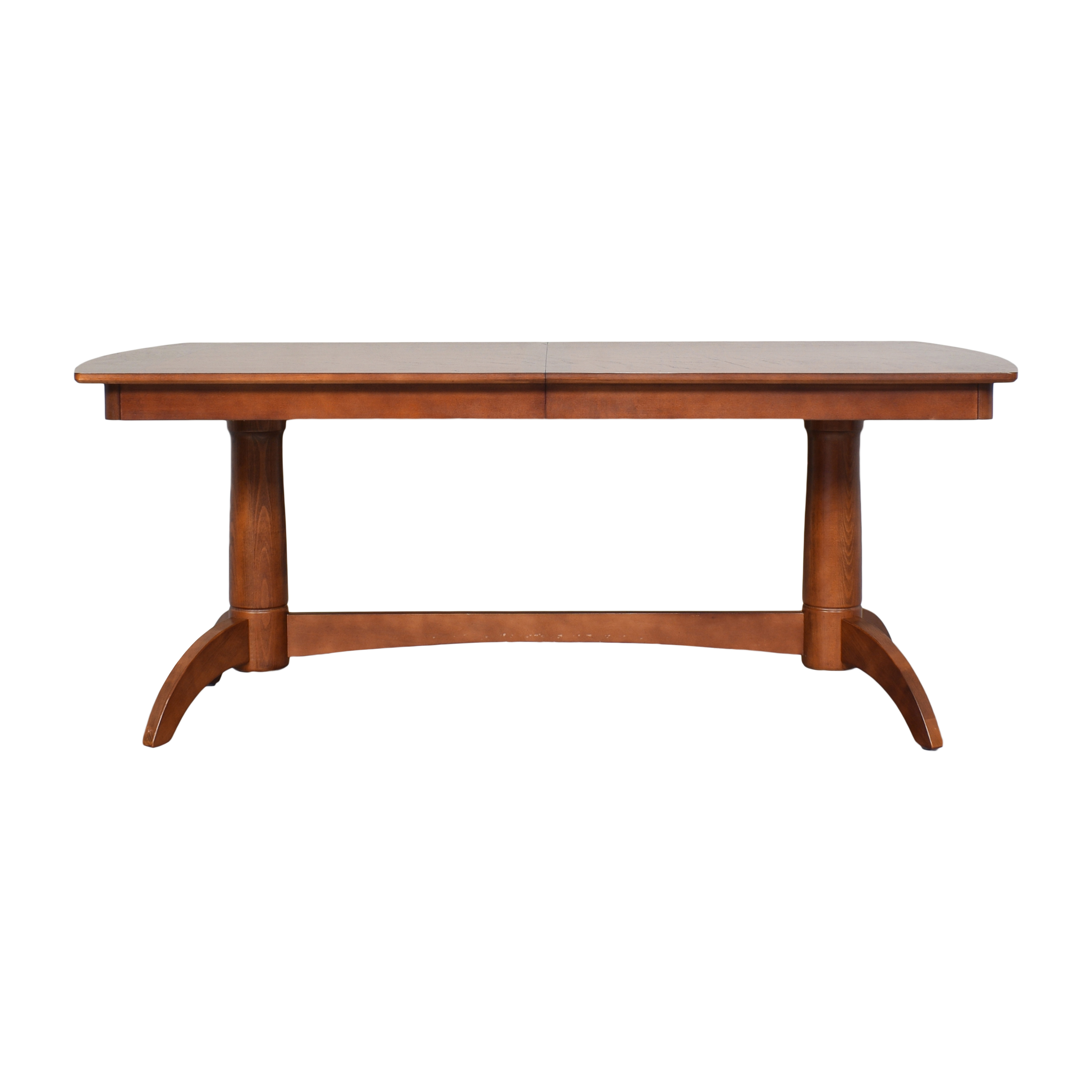 shop Extendable Trestle Dining Table  Dinner Tables