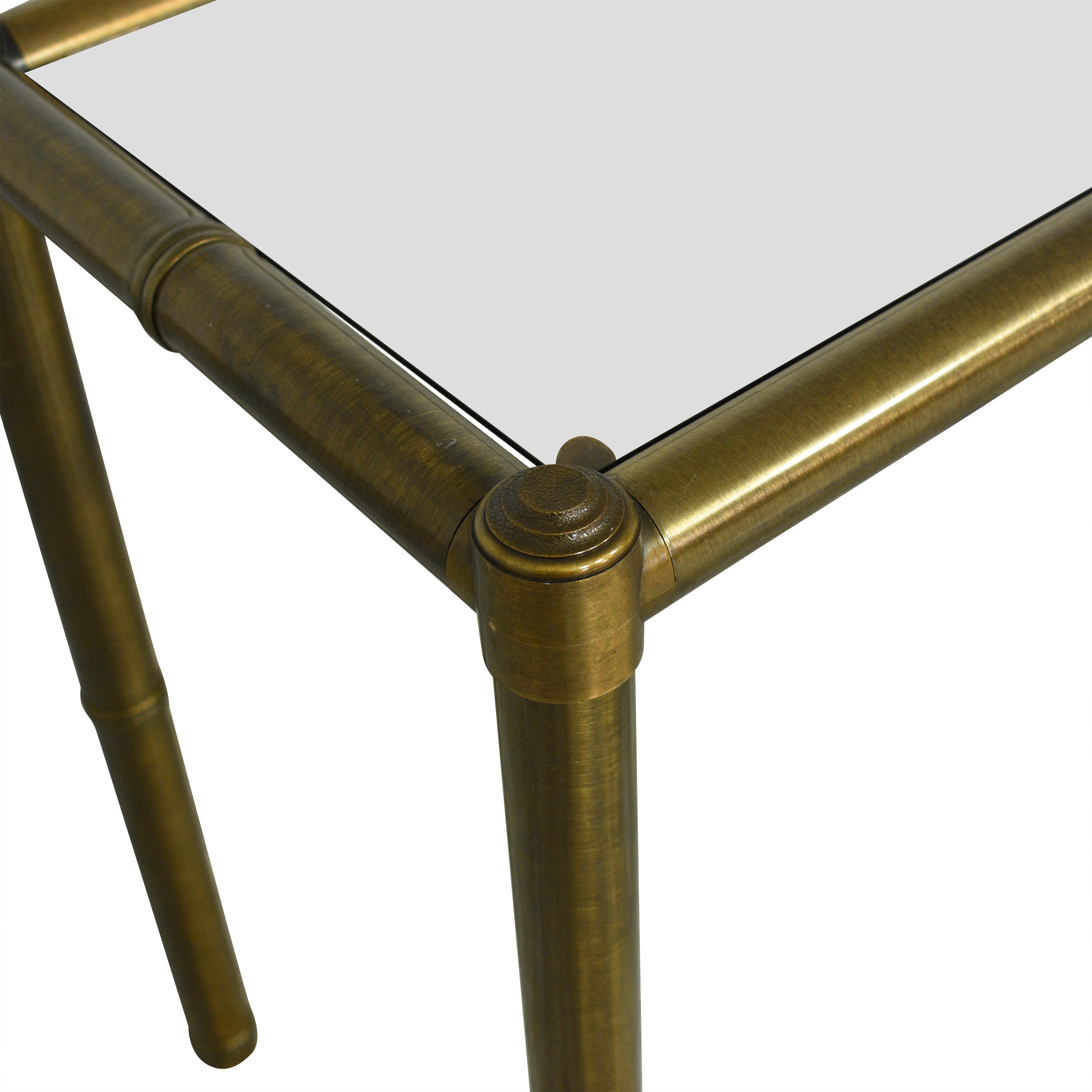 Bamboo-Style Console Table discount