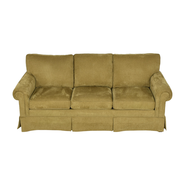 buy Ethen Allen Hastings Three Cushion Sofa Ethan Allen