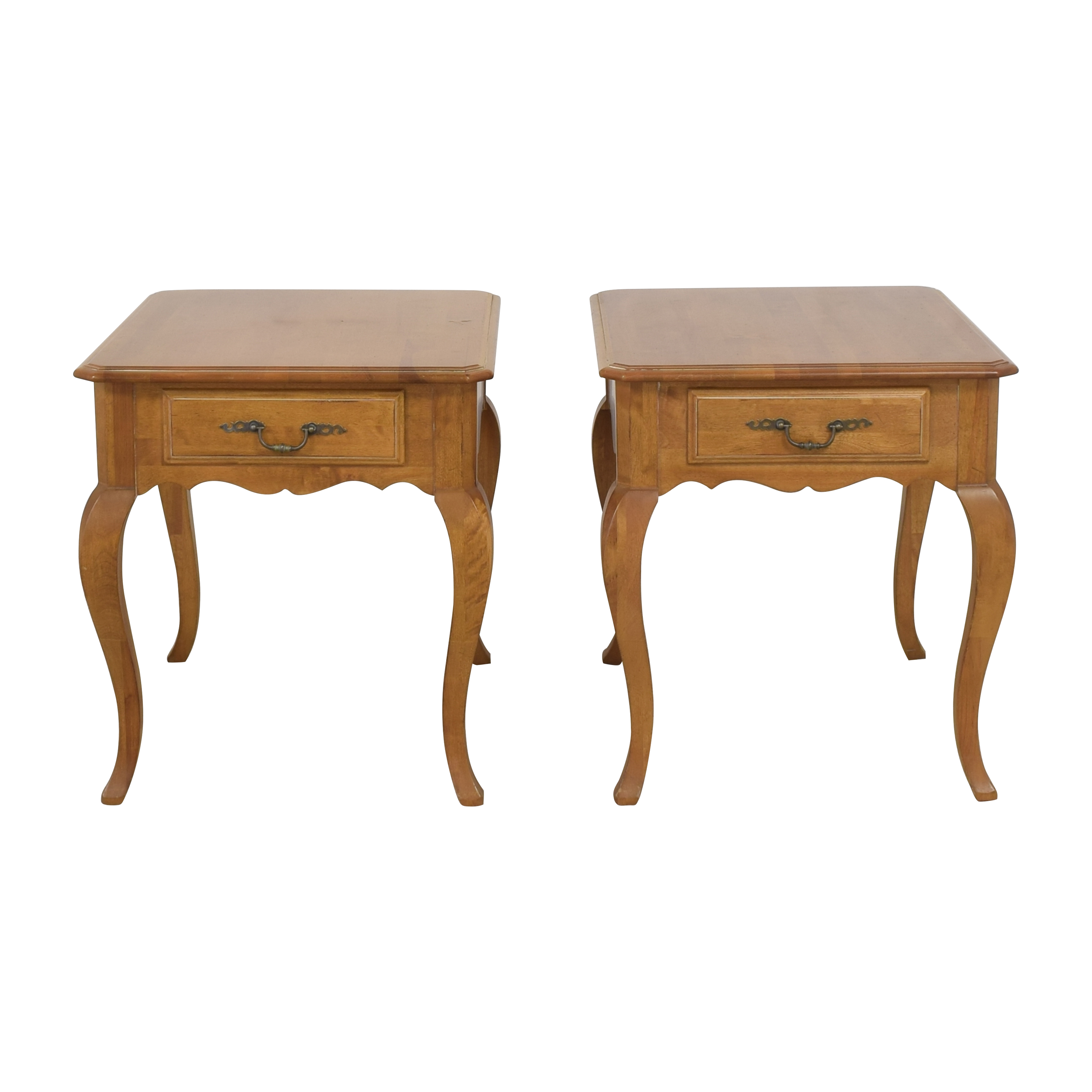 Ethan Allen Ethan Allen Country French Provence End Tables pa