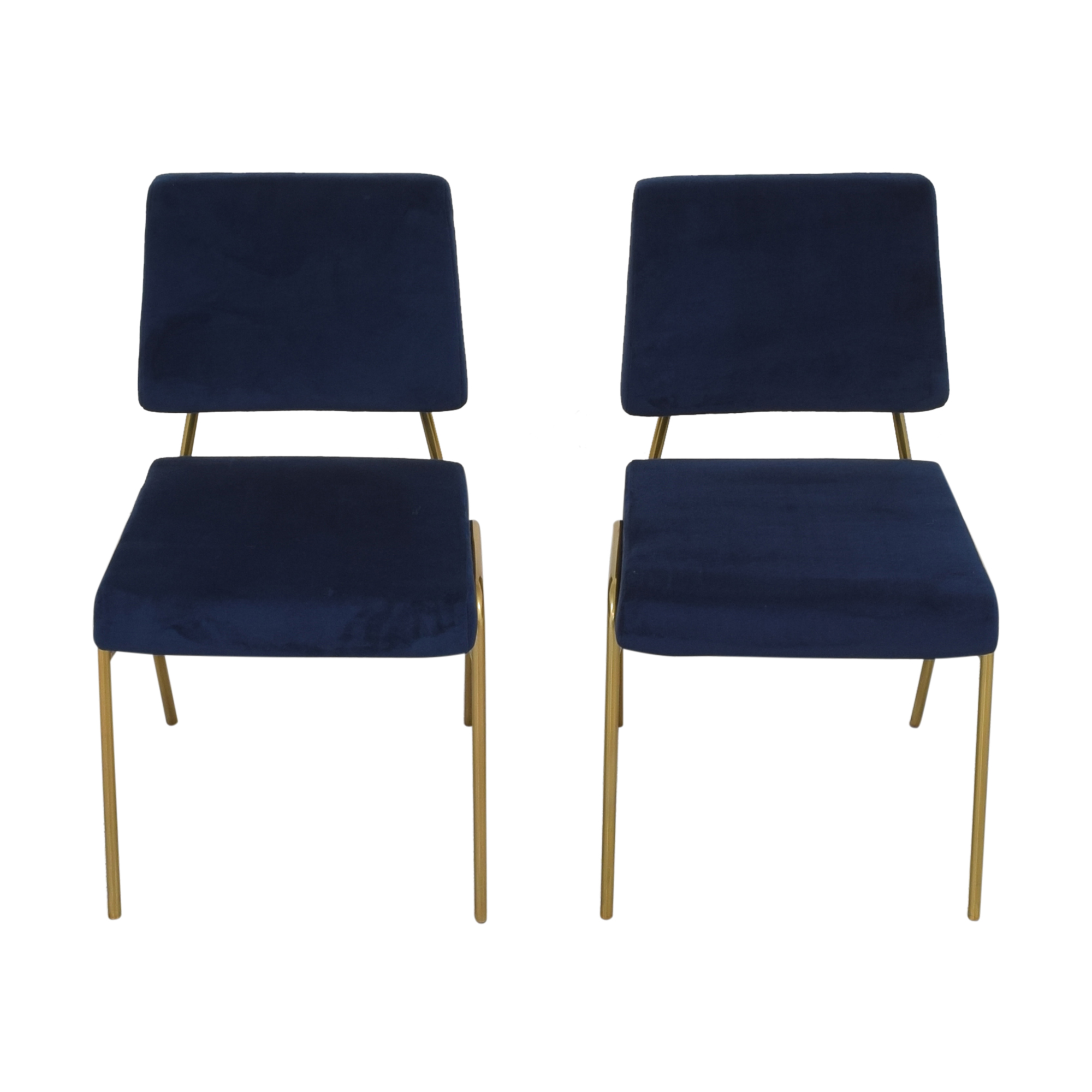 West Elm West Elm Wire Frame Upholstered Dining Chairs