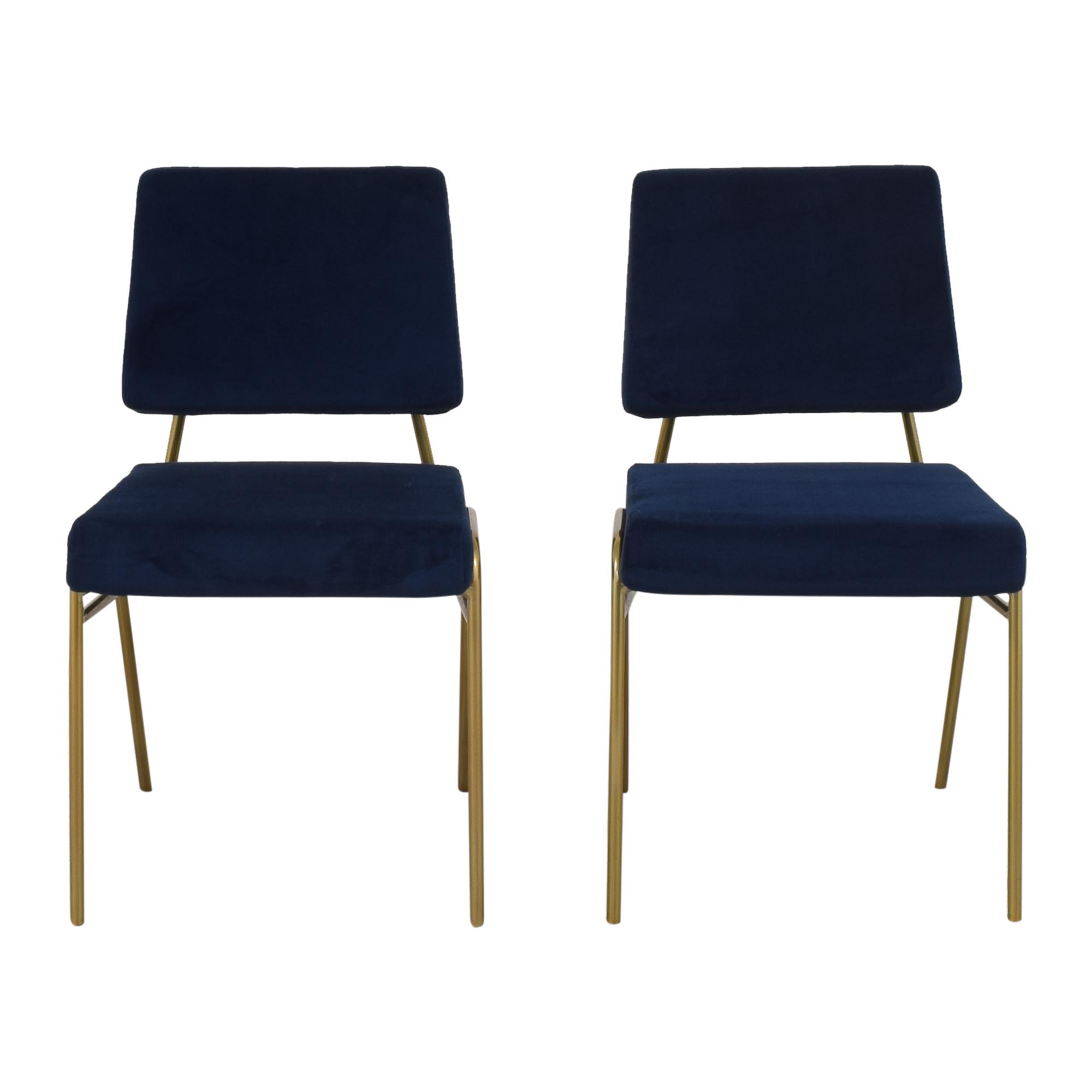 shop West Elm Wire Frame Upholstered Dining Chairs West Elm Dining Chairs