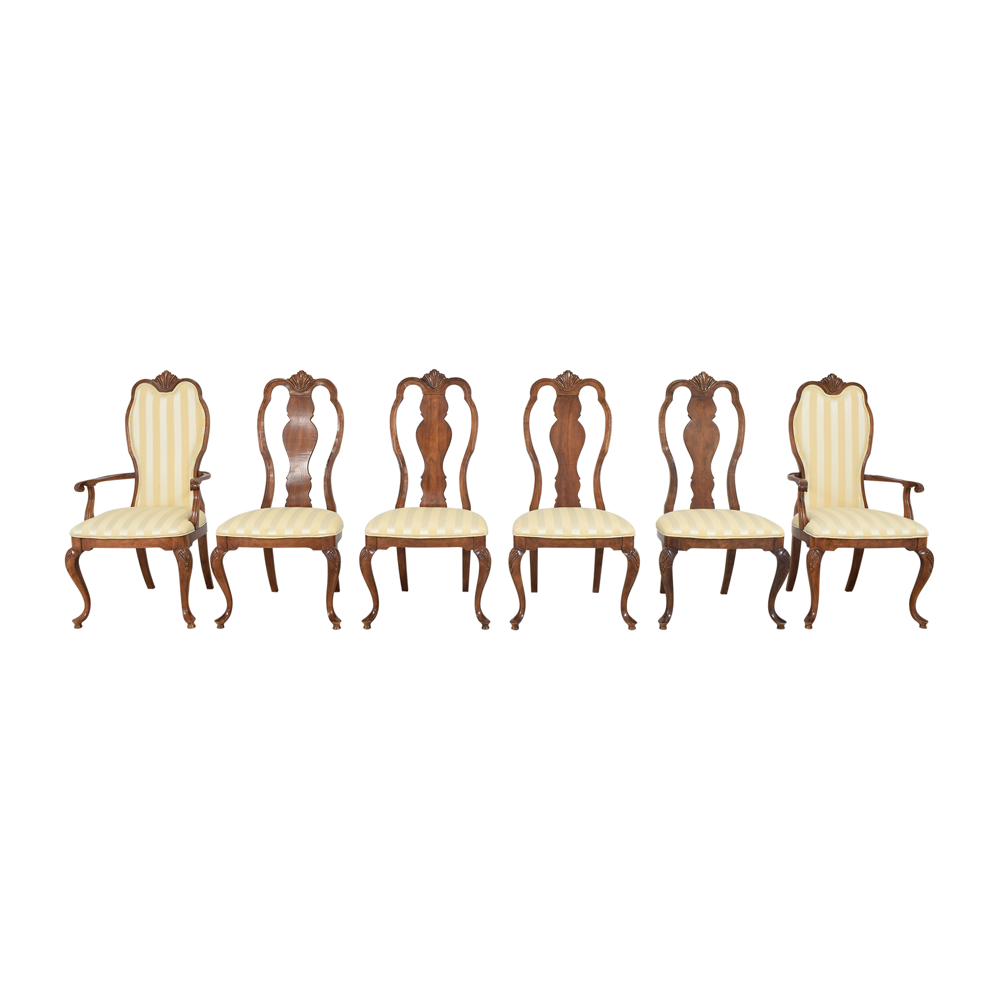 buy Bernhardt Queen Anne Dining Side Chairs Bernhardt Dining Chairs
