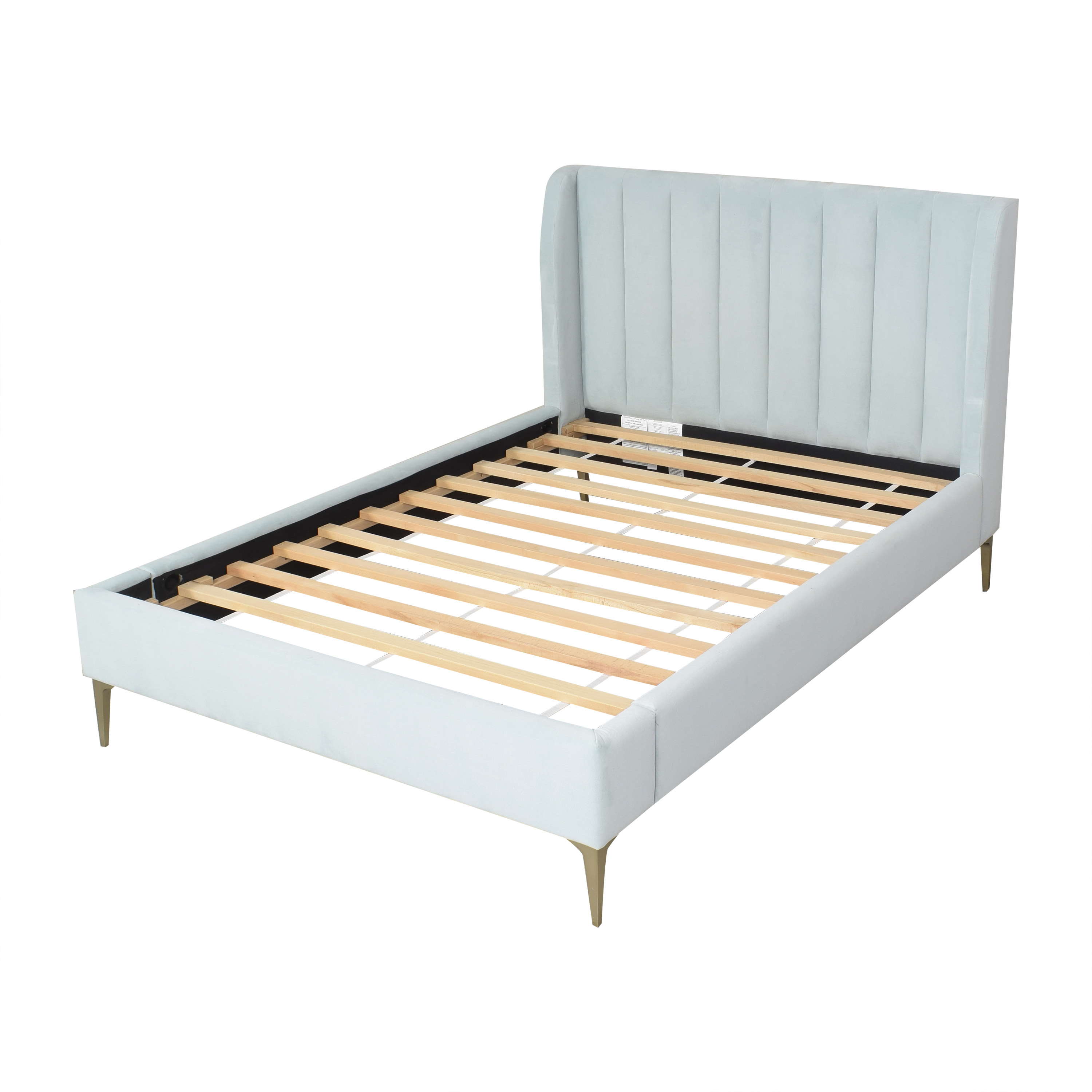 shop Pottery Barn Teen Avalon Channel Stitch Upholstered Full Bed Pottery Barn Teen Beds