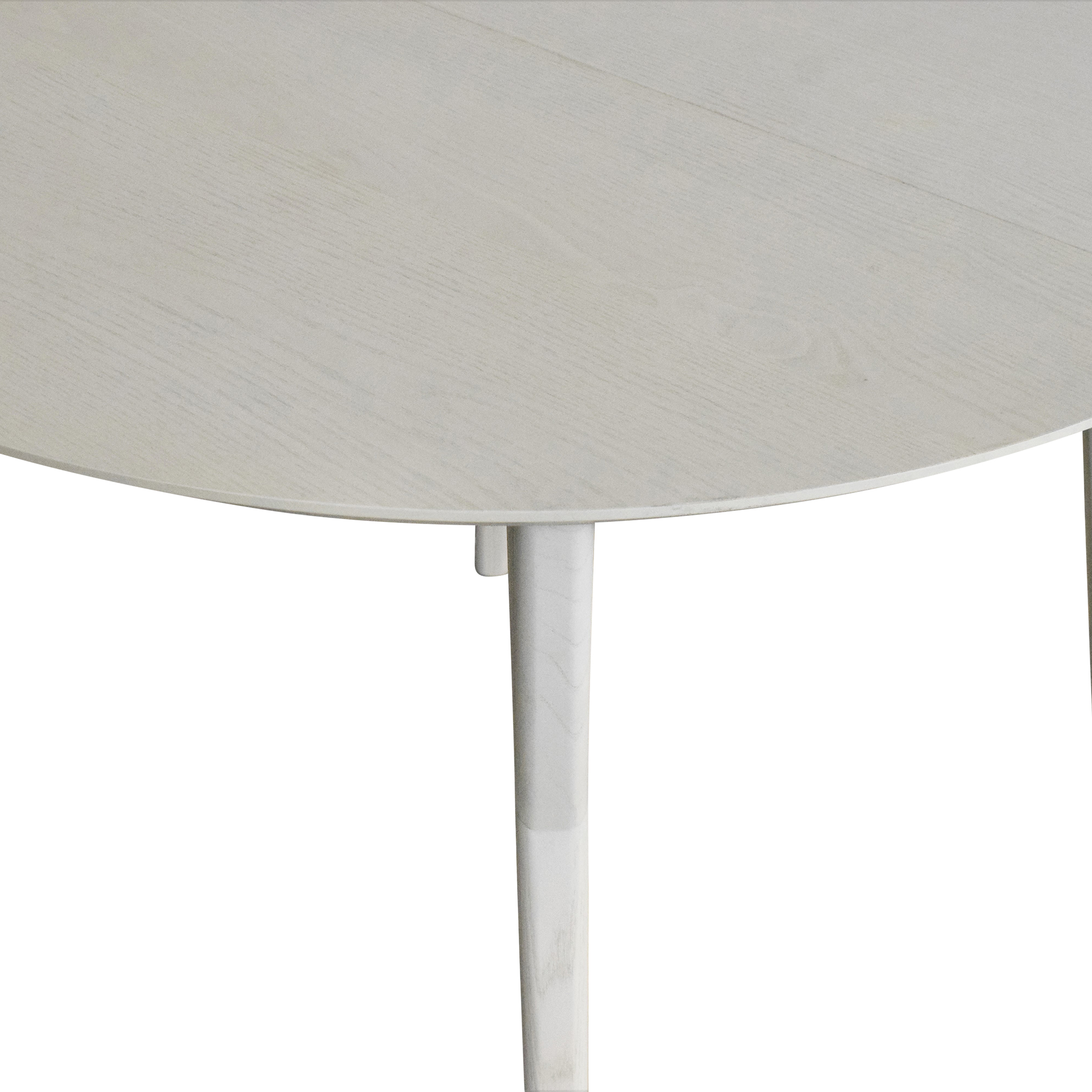 West Elm Mid Century Round Expandable Dining Table / Dinner Tables