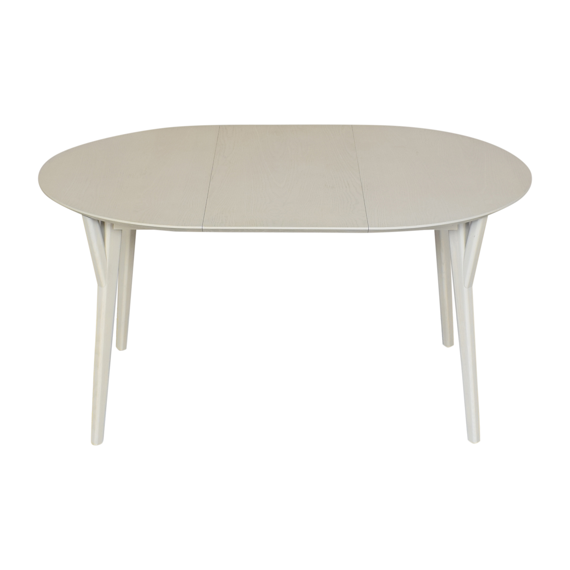 shop West Elm Mid Century Round Expandable Dining Table West Elm Dinner Tables