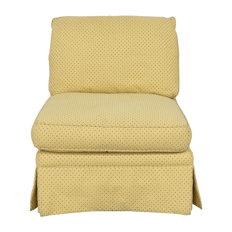 buy Sherrill Furniture Skirted Slipper Chair Sherrill Furniture