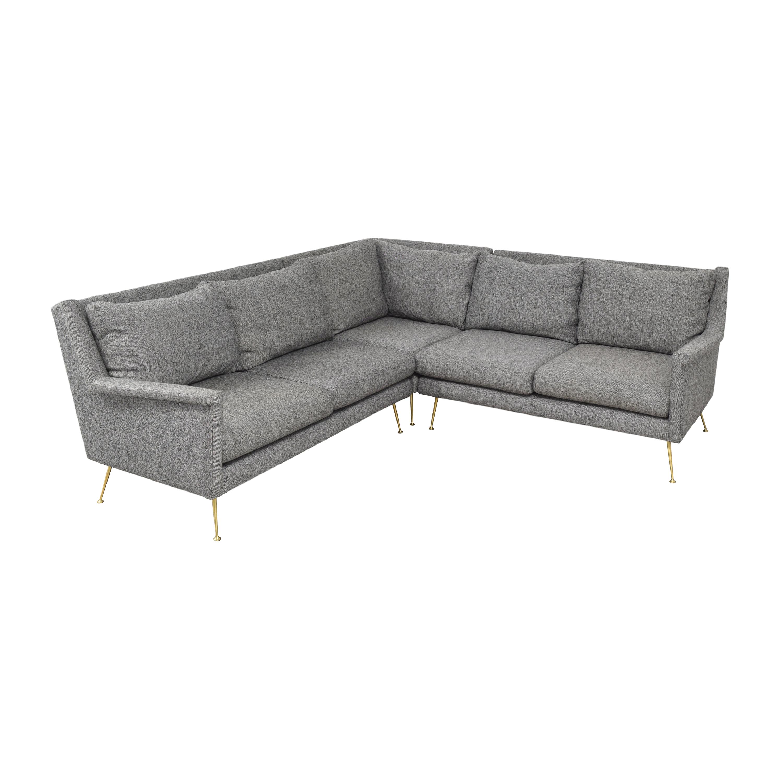 West Elm West Elm Carlo Mid-Century Sectional Sofa grey