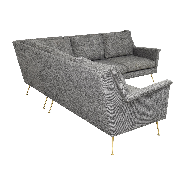 buy West Elm Carlo Mid-Century Sectional Sofa West Elm