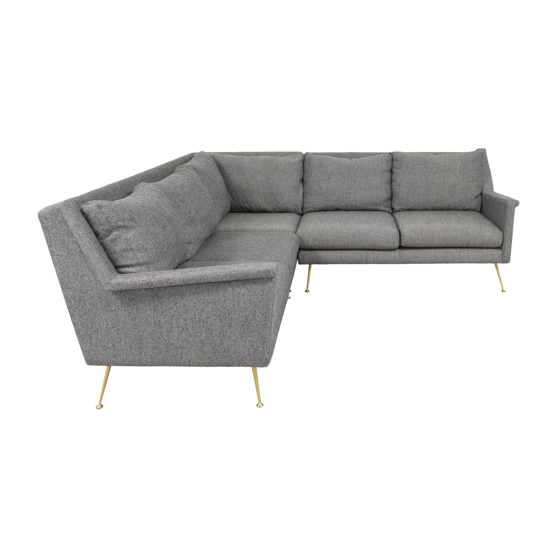 West Elm West Elm Carlo Mid-Century Sectional Sofa ct