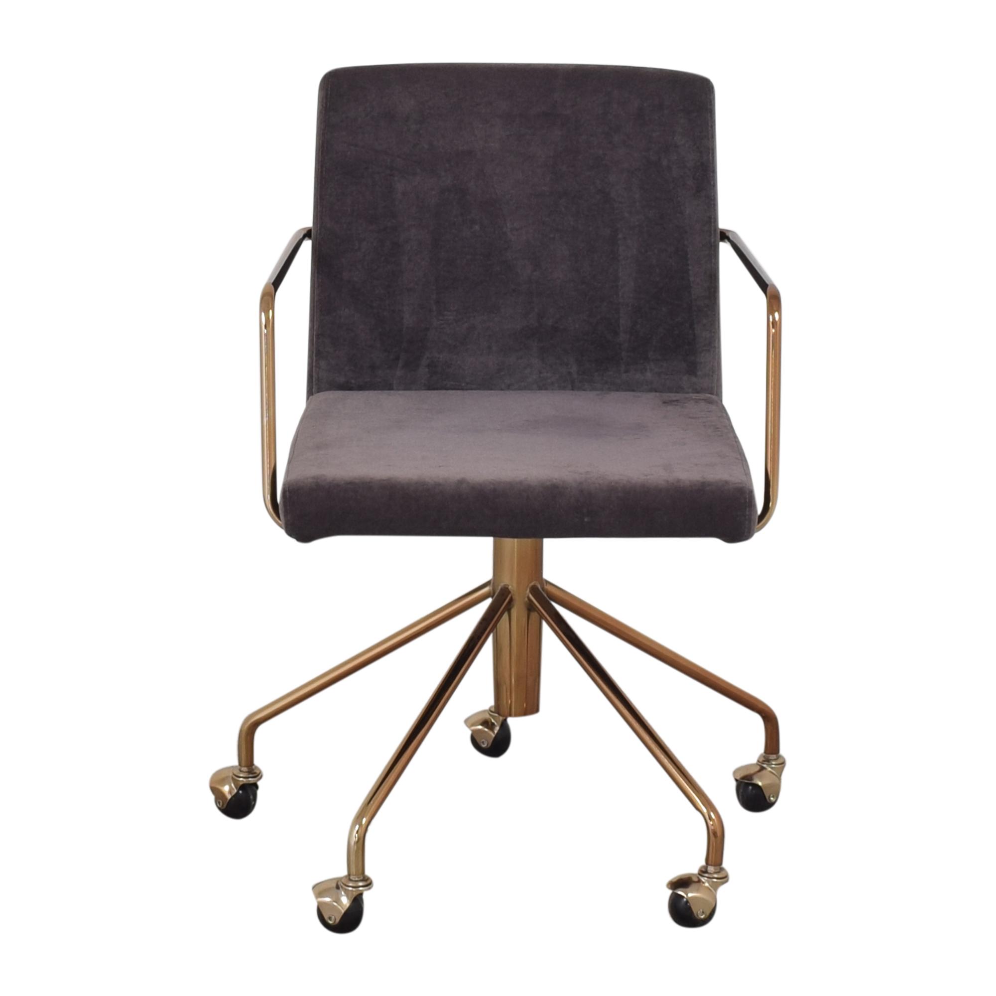 CB2 CB2 Rouka Office Chair dark purple