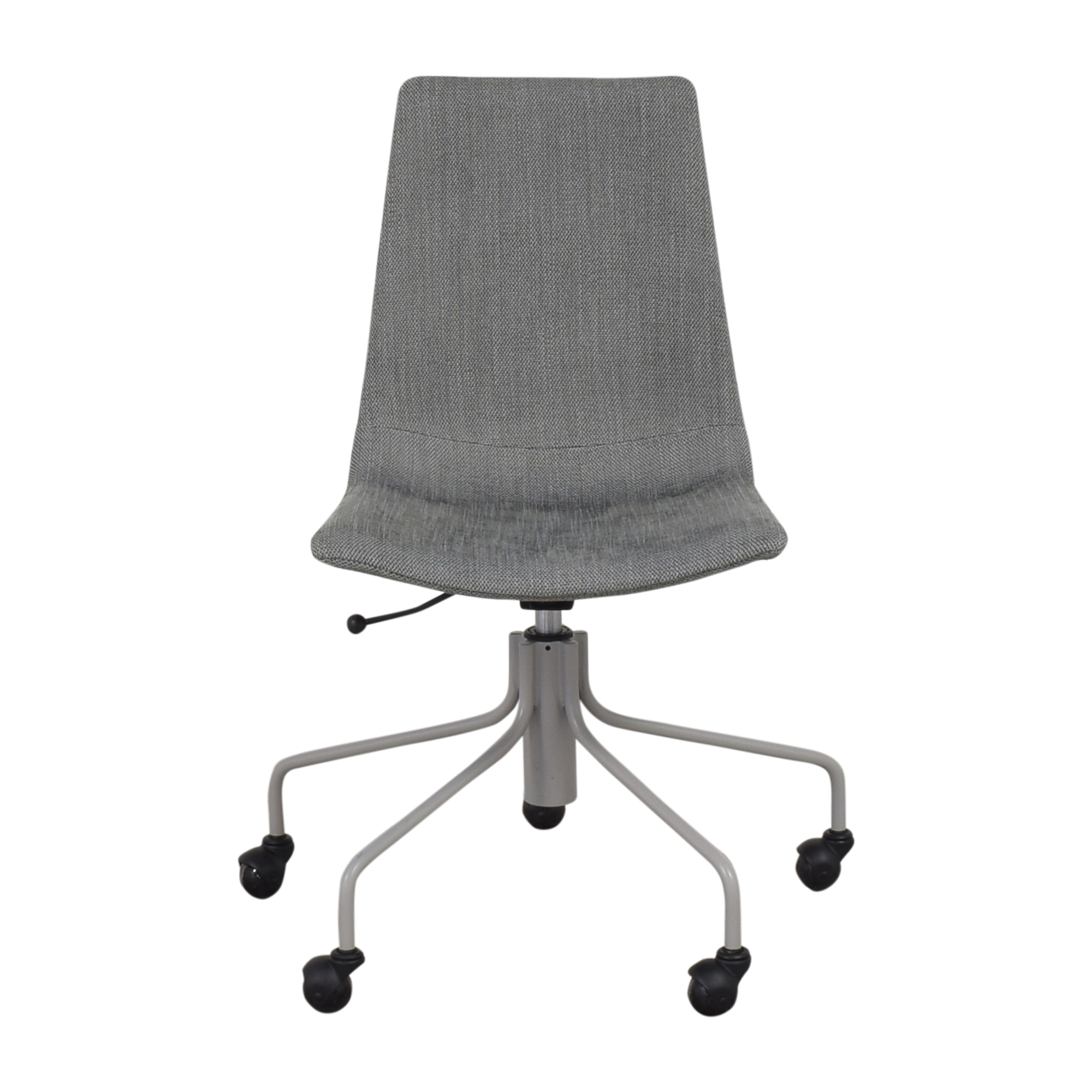 West Elm Modern Slope Upholstered Swivel Office Chair sale