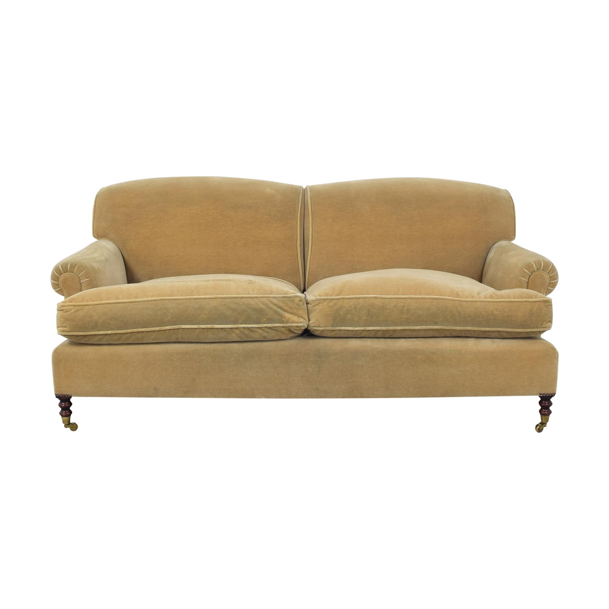 George Smith George Smith Scroll Arm Sofa tan