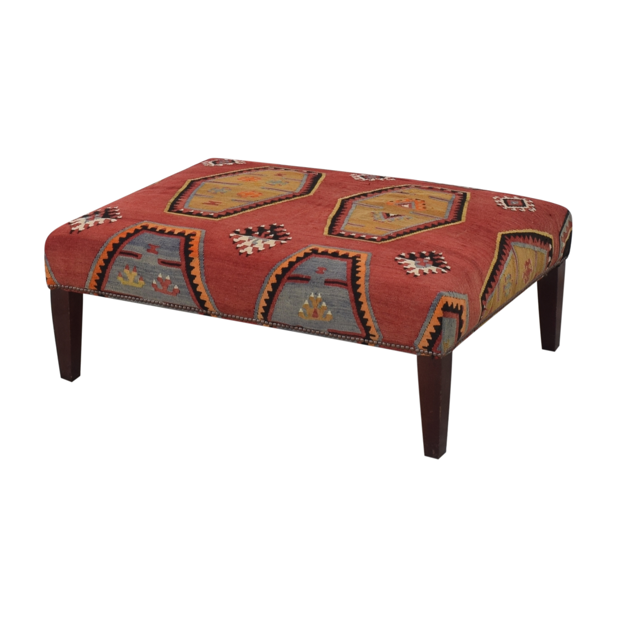 George Smith Patterned Ottoman George Smith