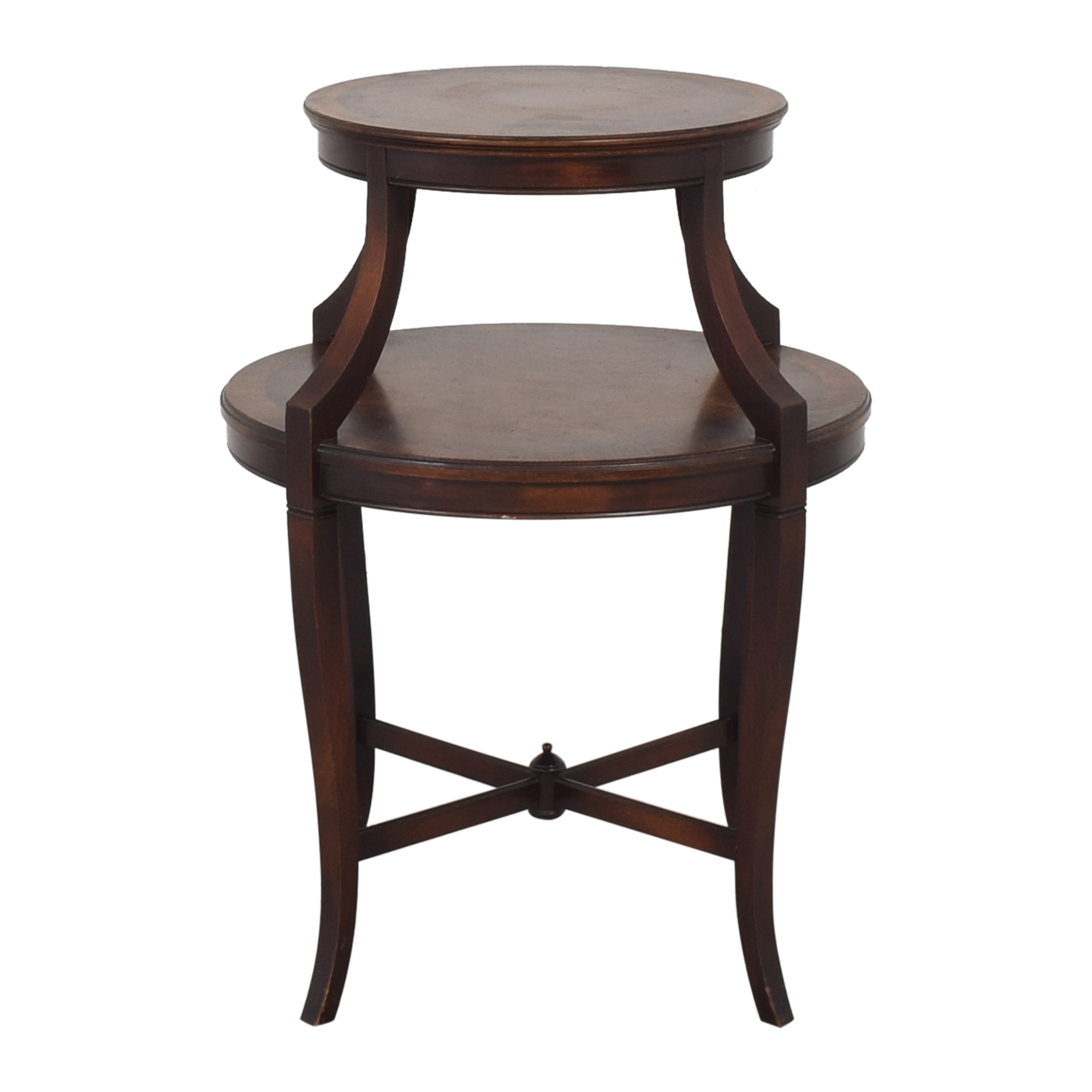 Two Tier Round End Table