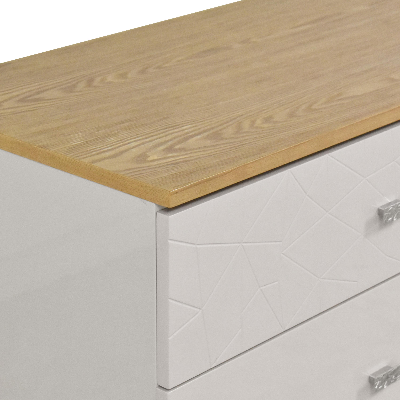 Modern Six Drawer Double Dresser nyc