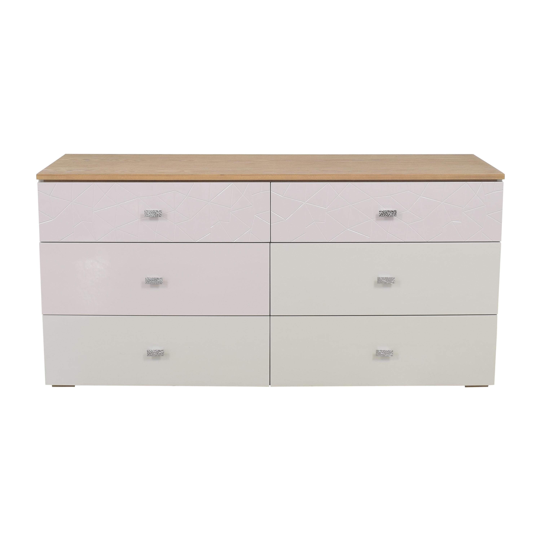 Modern Six Drawer Double Dresser / Storage