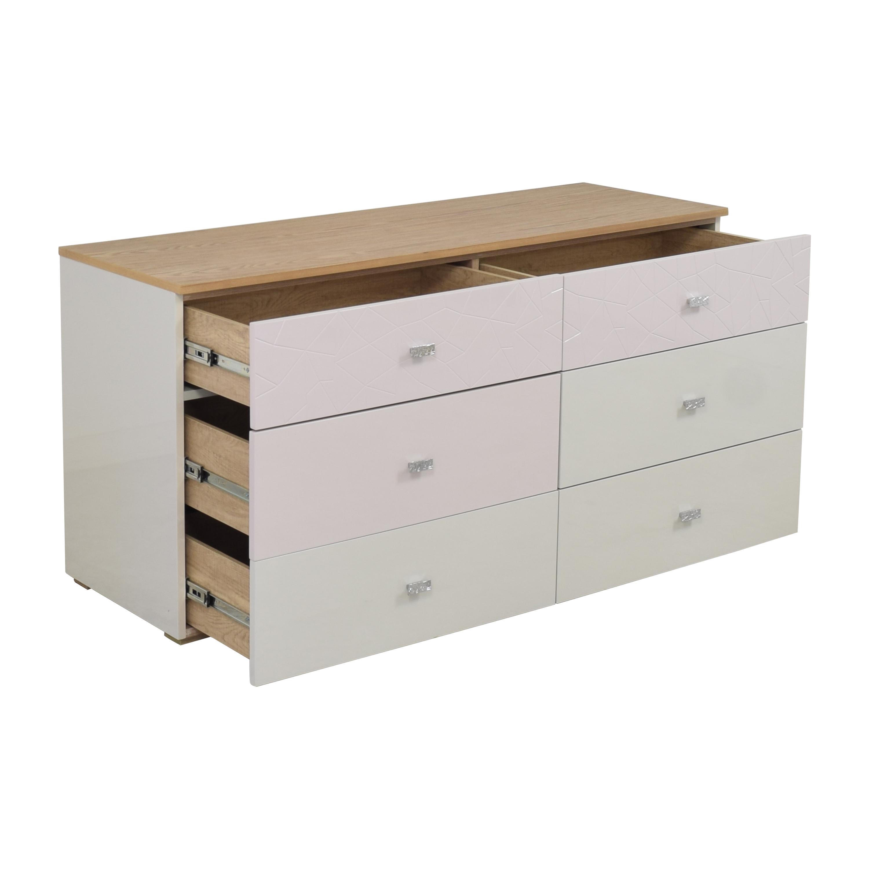 shop Modern Six Drawer Double Dresser  Dressers