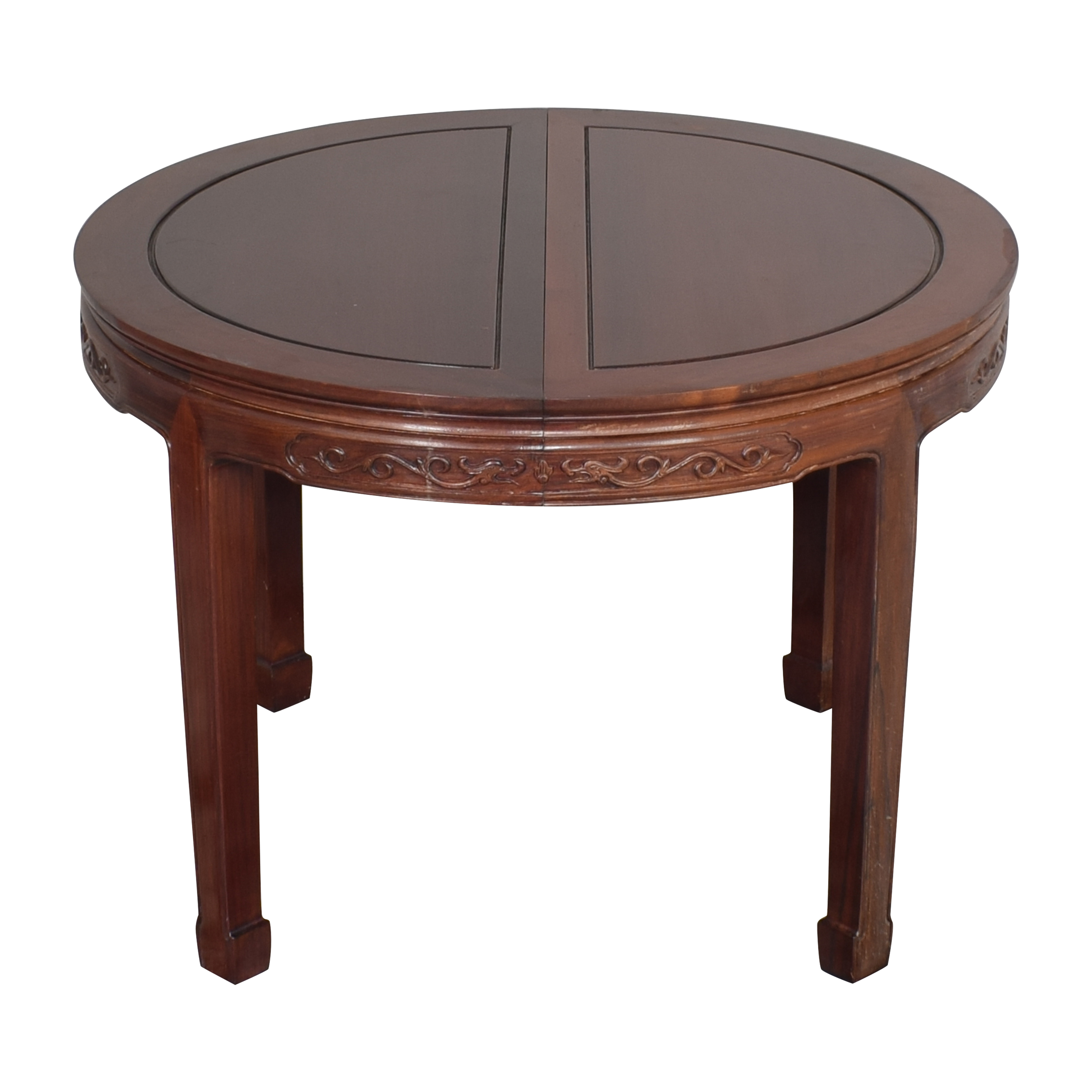 shop Chinoiserie Round Extendable Dining Table