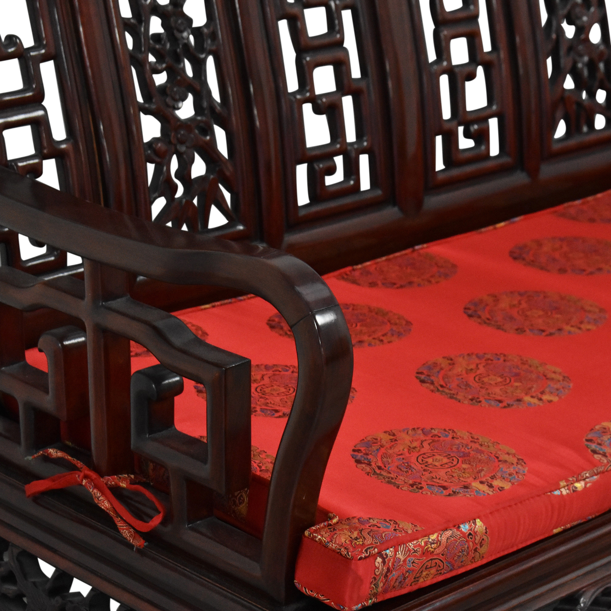 Chinoiserie Bench with Cushion