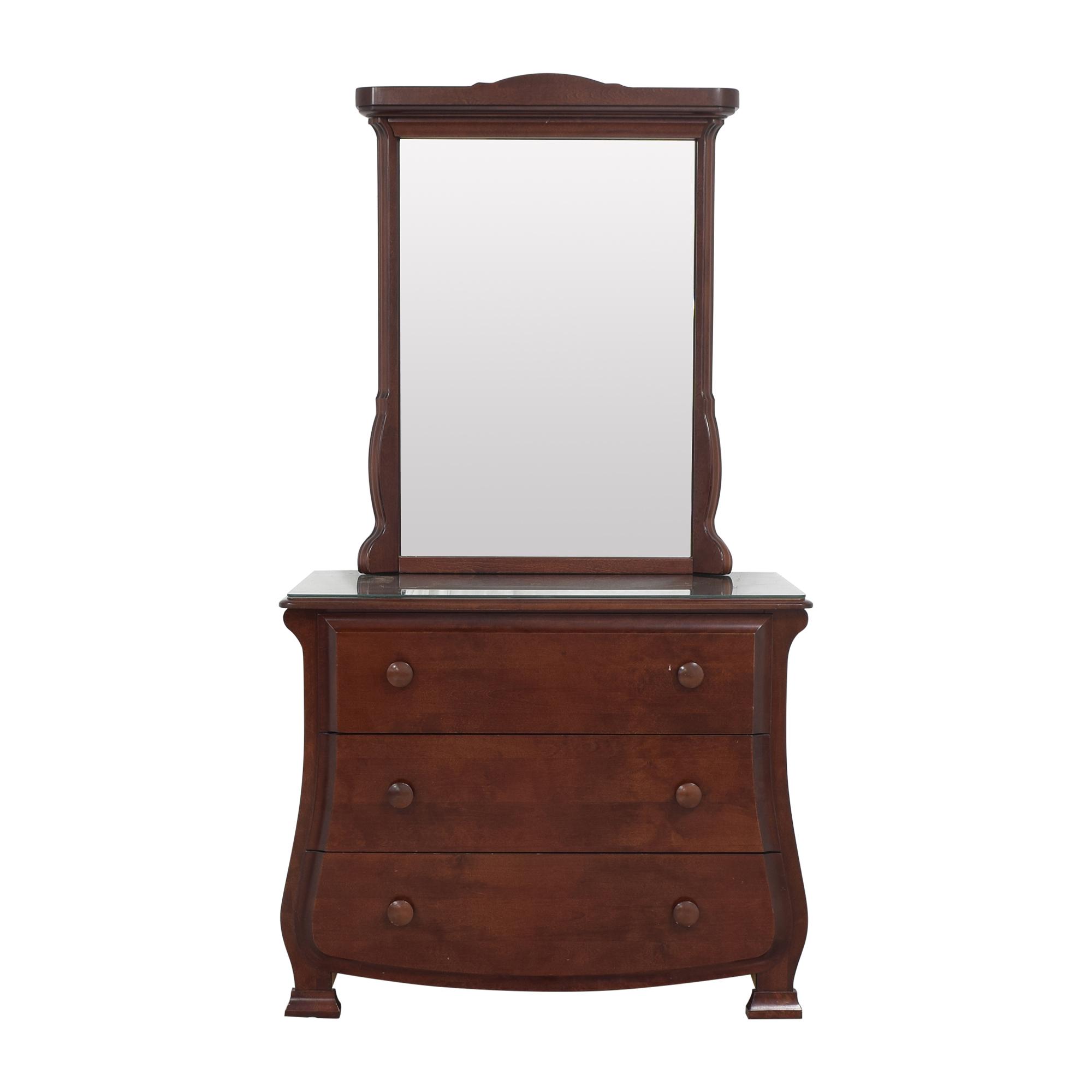 Pali Pali Designs Dresser with Mirror dark brown