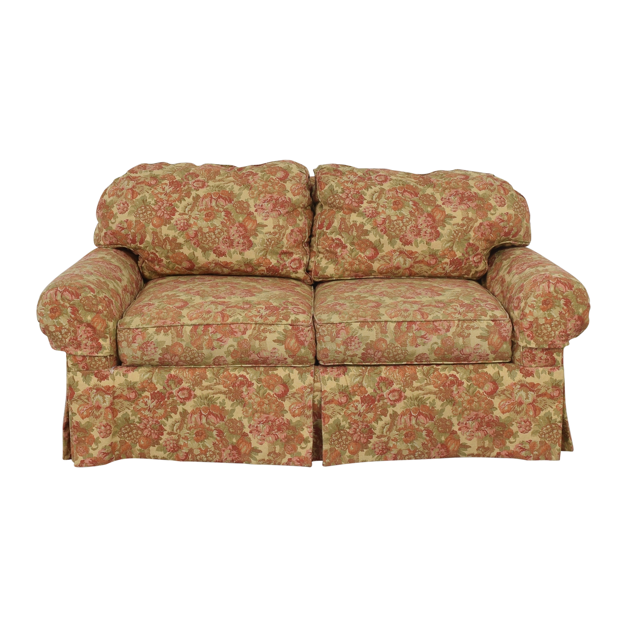 buy Stanford Furniture Skirted Roll Arm Loveseat Stanford Furniture