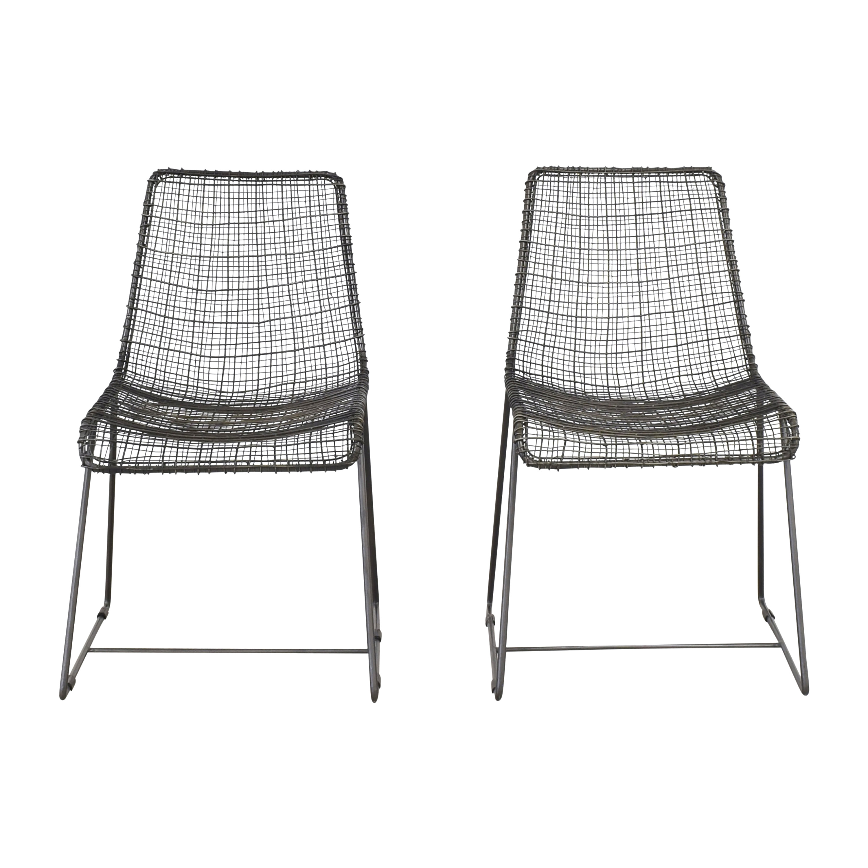 CB2 CB2 Reed Chairs dimensions