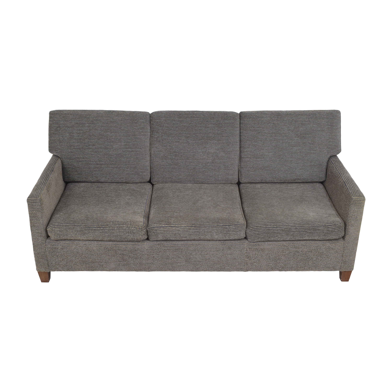 William Switzer Fine Furniture William Switzer Custom Three Cushion Sofa dimensions