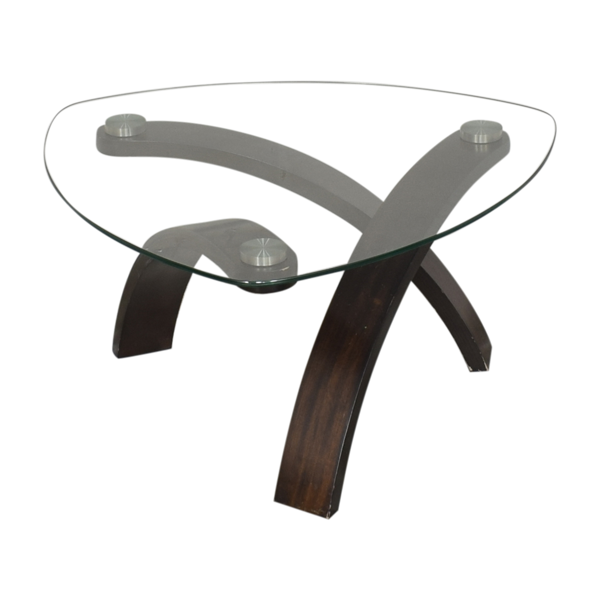 Raymour & Flanigan Raymour & Flanigan Allure Round Coffee Table ct