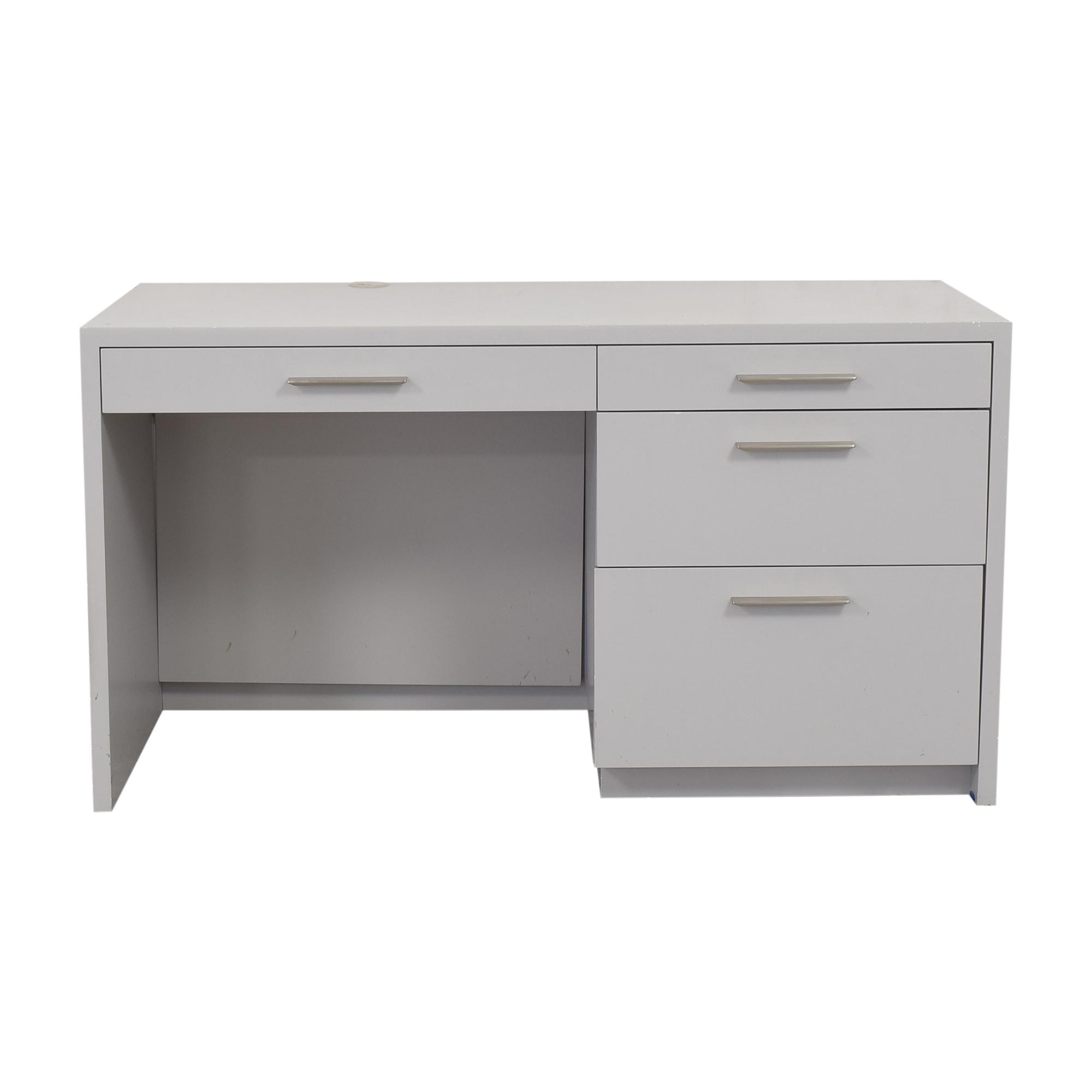 Custom Single Pedestal Desk used