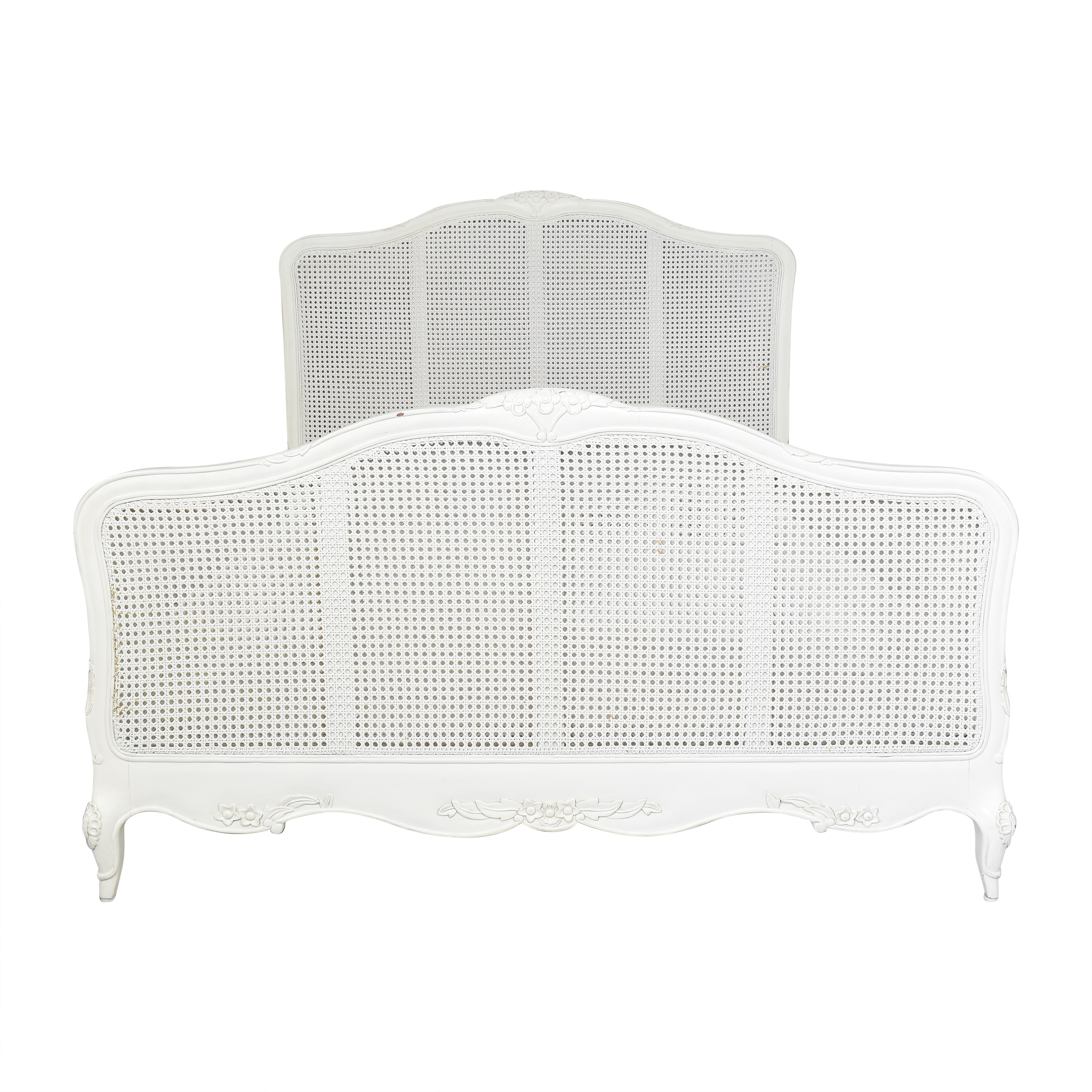 French-Style Cane Queen Bed Bed Frames