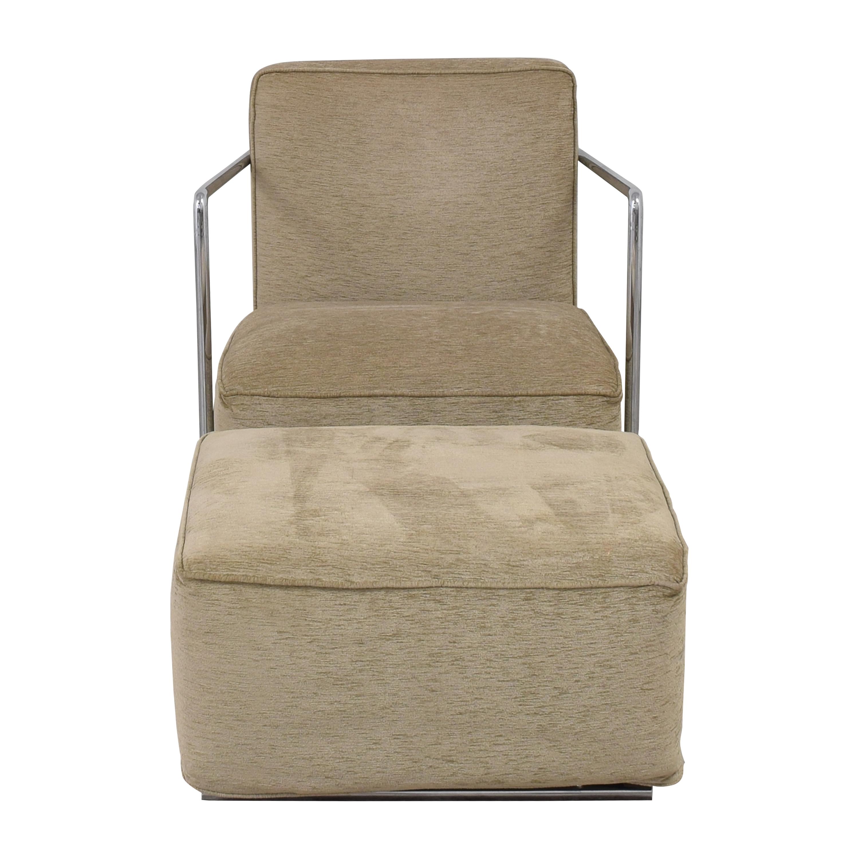 Flexform Flexform A.B.C. Chair and Ottoman dimensions