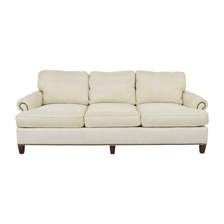 Bernhardt Bernhardt Roll Arm Nailhead Sofa for sale