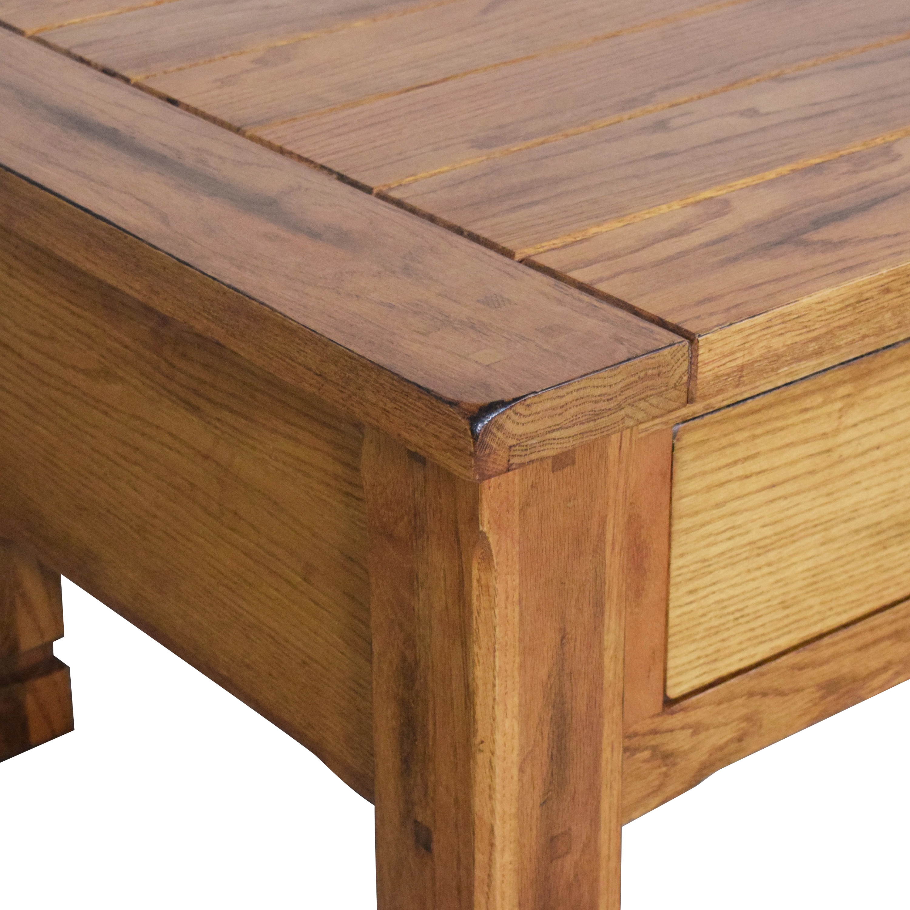 Raymour & Flanigan Raymour & Flanigan Two Drawer Coffee Table Tables