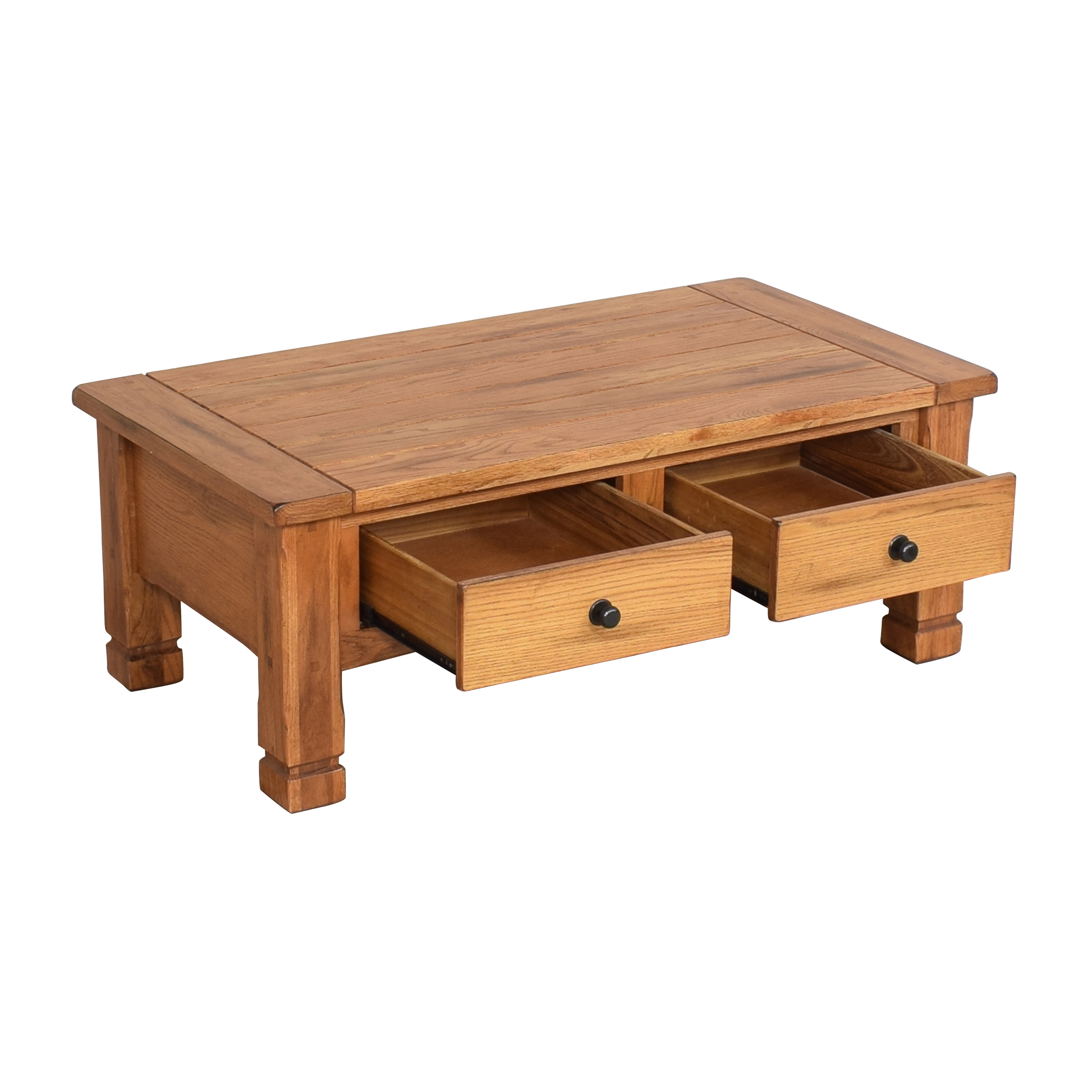 Raymour & Flanigan Two Drawer Coffee Table / Coffee Tables