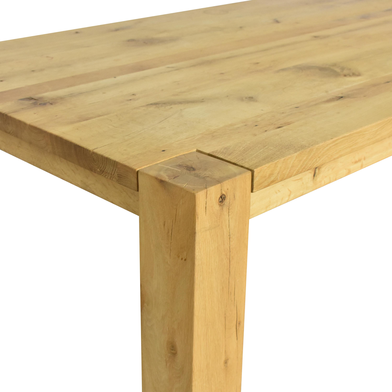 Restoration Hardware Restoration Hardware Reclaimed Parsons Rectangular Dining Table nj