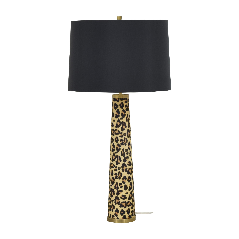 Williams Sonoma Williams Sonoma Leopard-Print Hide Table Lamp multi