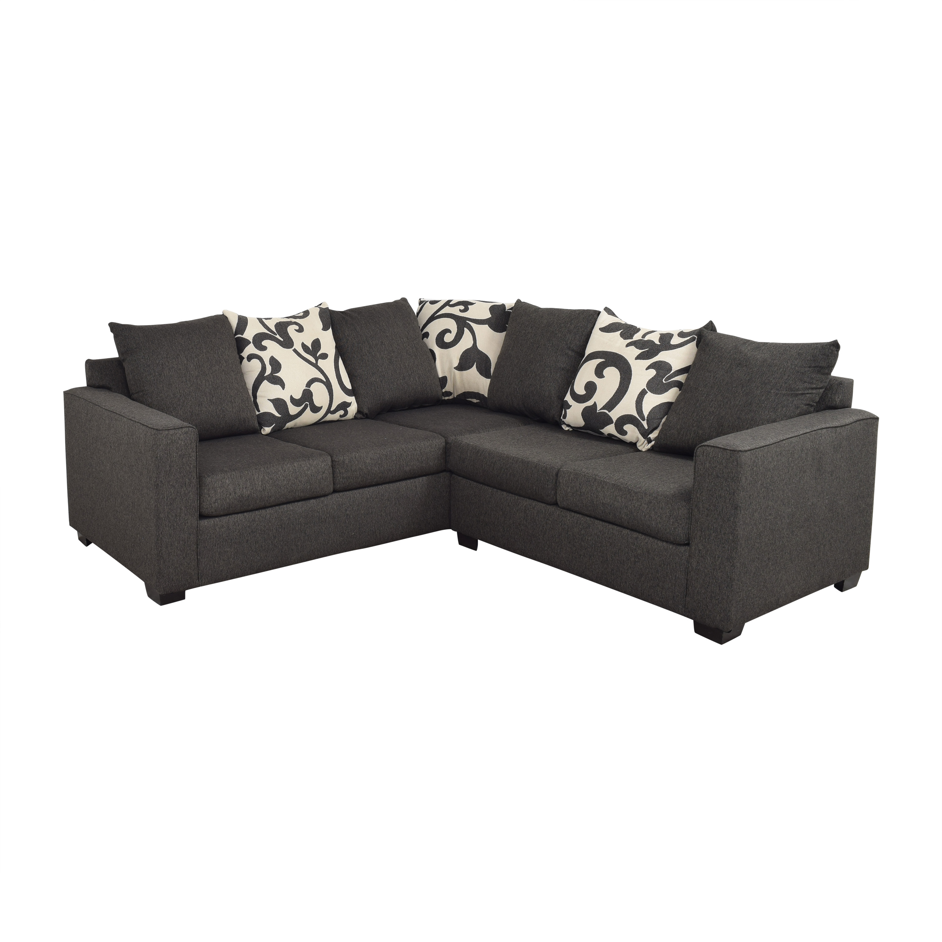 Furniture of America Furniture of America Lleida Two Piece Sectional Sofa nj