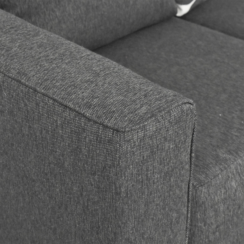 shop Furniture of America Lleida Two Piece Sectional Sofa Furniture of America Sectionals