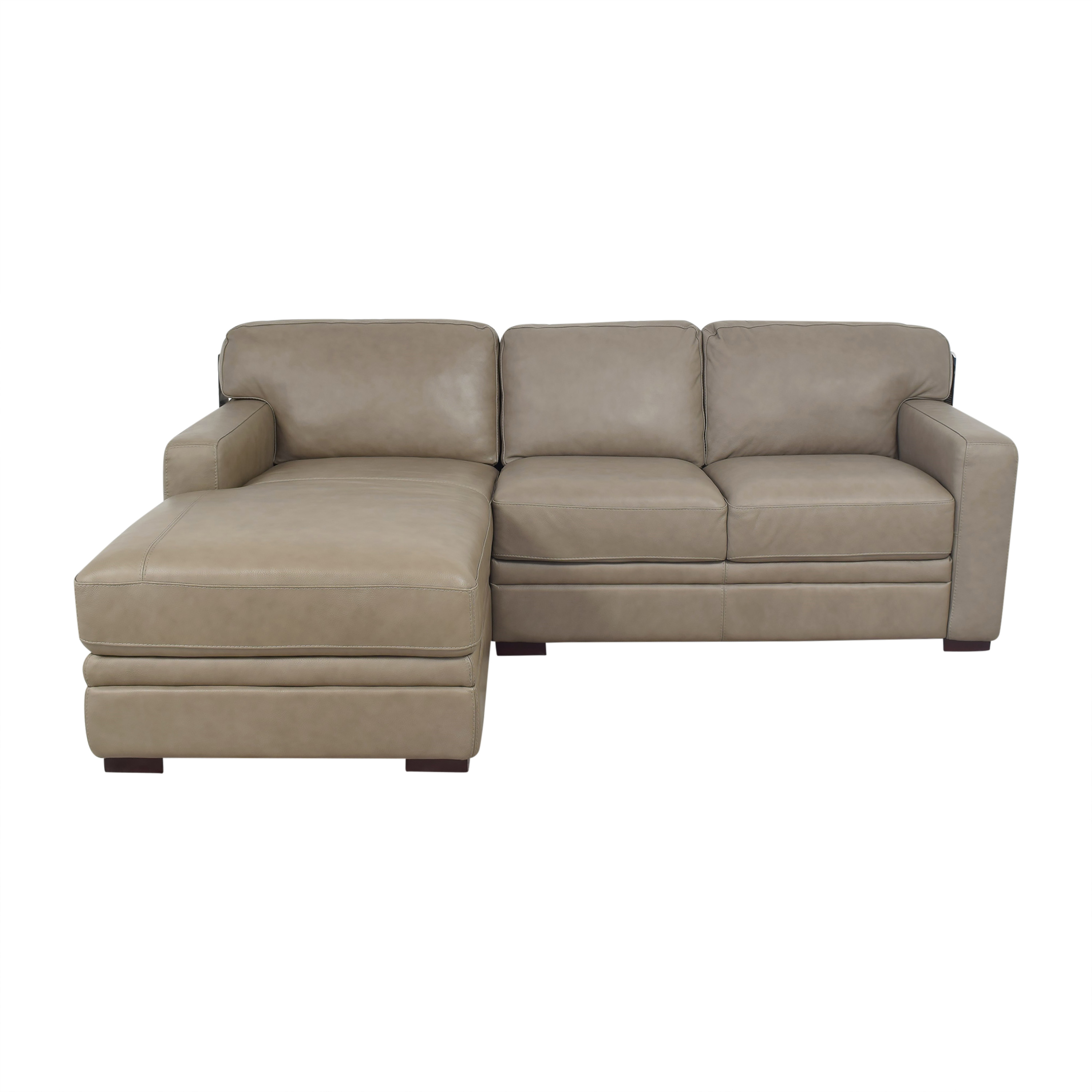 Macy's Macy's Avenell Two Piece Chaise Sectional Sofa brown