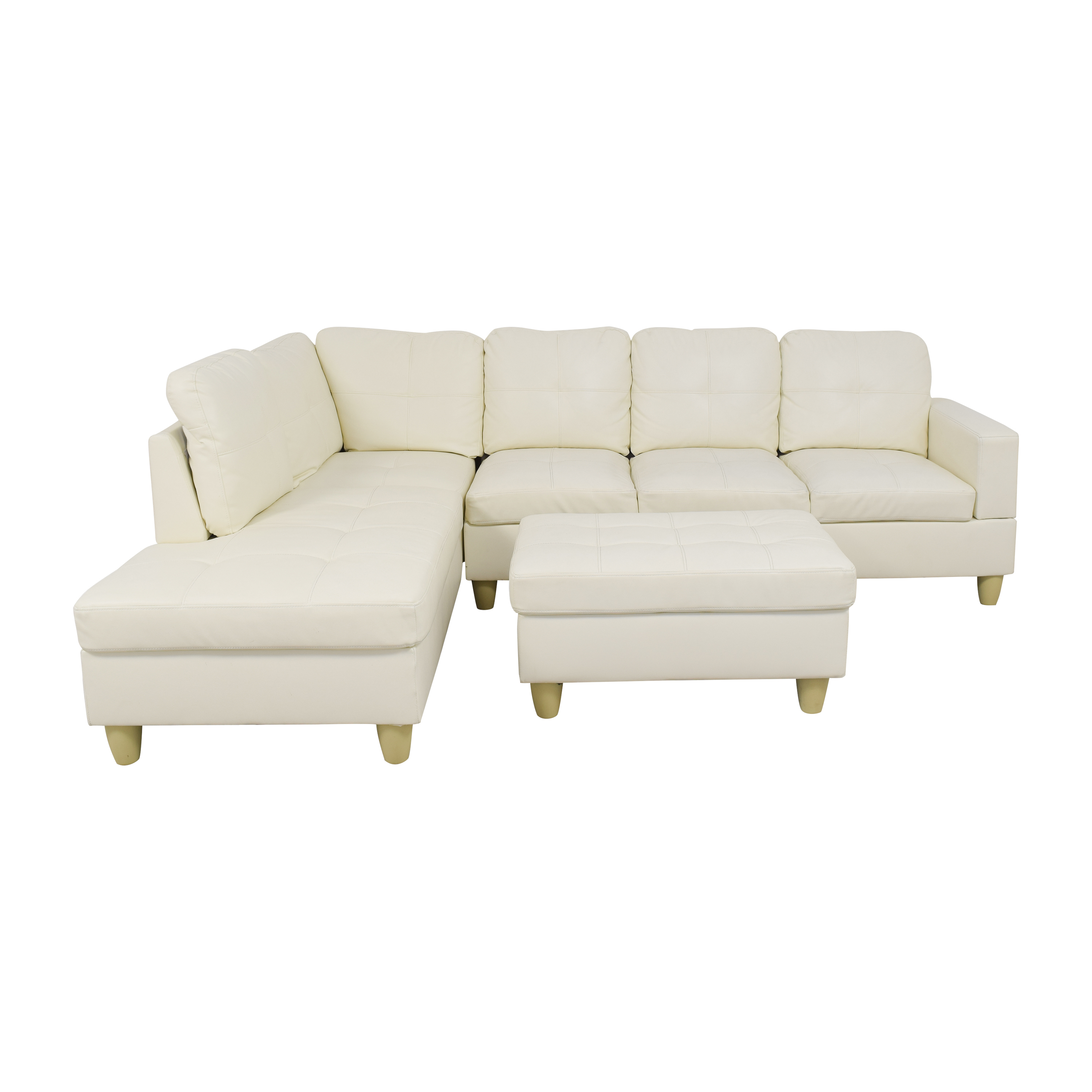 Beverly Furniture Beverly Furniture Russes Chaise Sectional Sofa with Storage Ottoman used