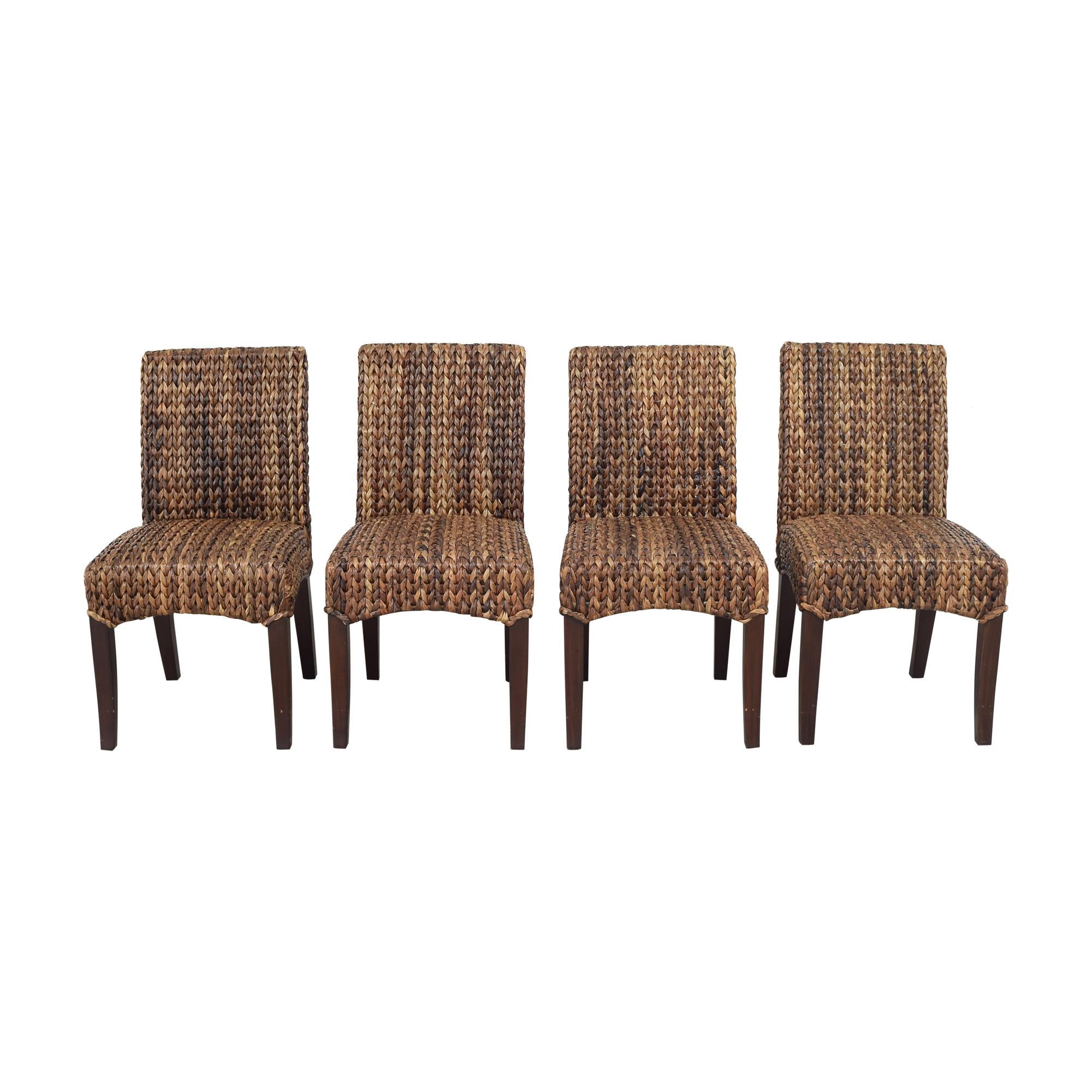 Pottery Barn Pottery Barn Seagrass Dining Side Chairs Chairs