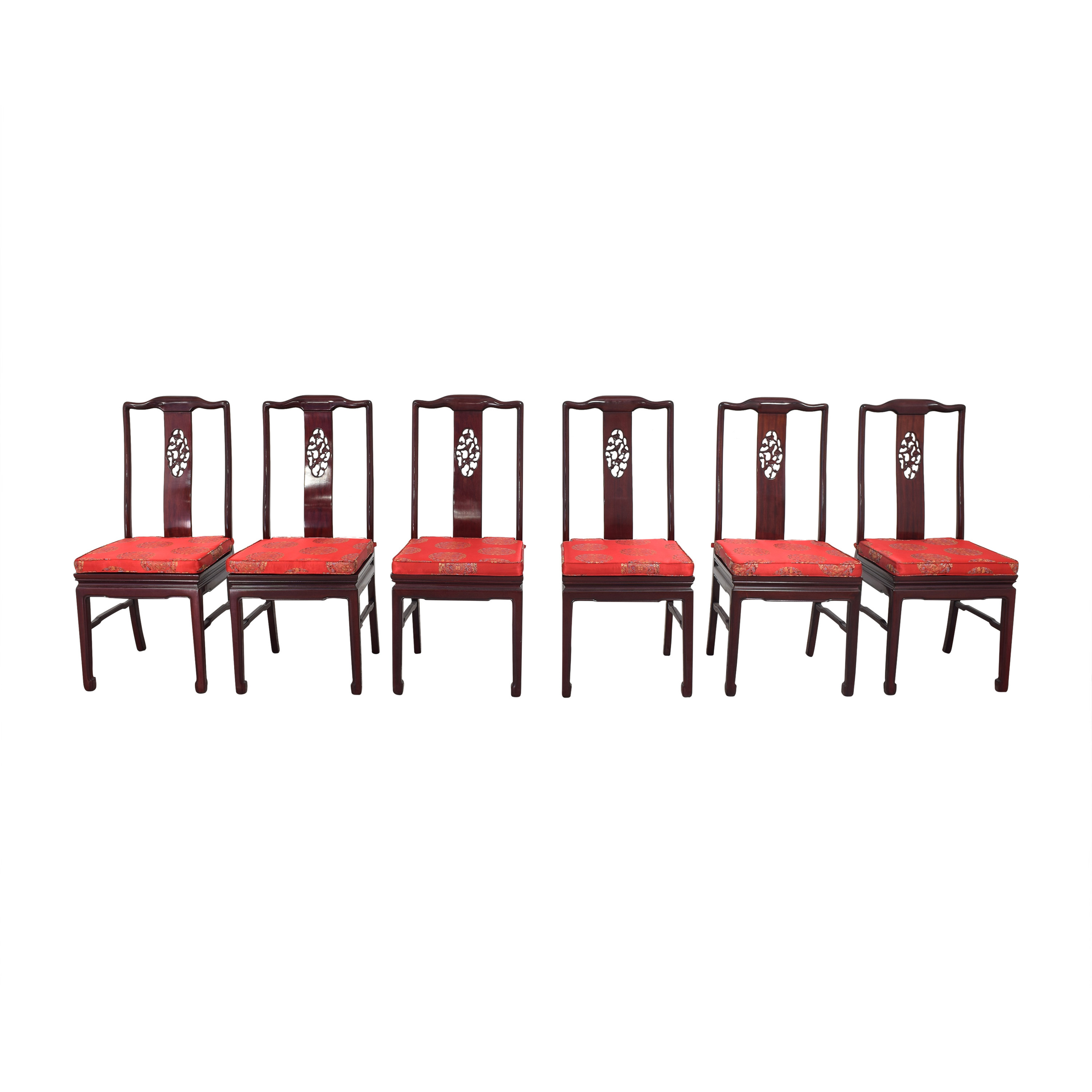 shop Chinoiserie Dining Side Chairs with Cushions