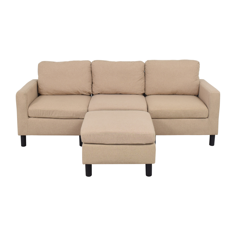 Wayfair Corrigan Studio Mirac Sectional Sofa with Ottoman / Sectionals